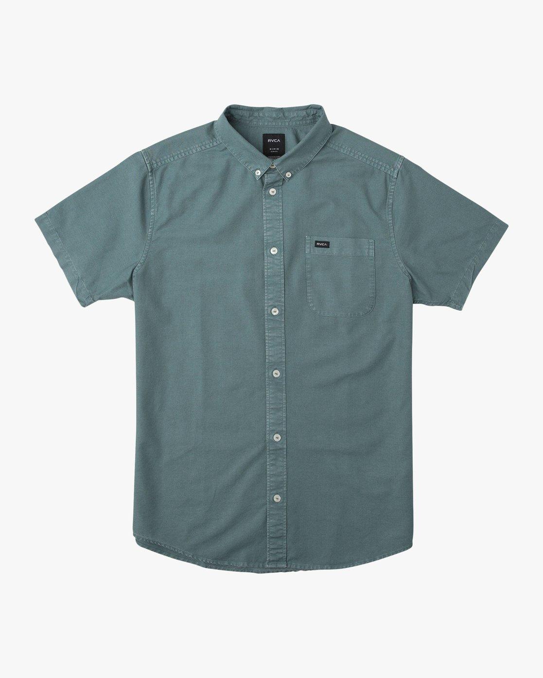 0 That'll Butter Button-Up Shirt Green M509TRTB RVCA
