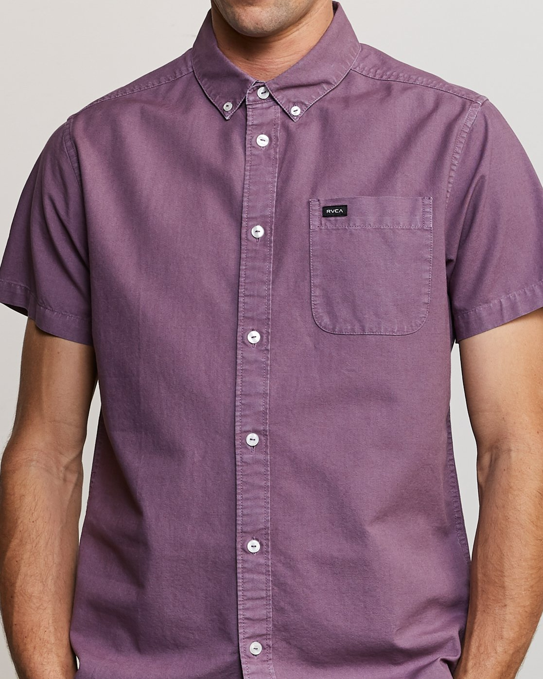 4 That'll Butter Button-Up Shirt Purple M509TRTB RVCA