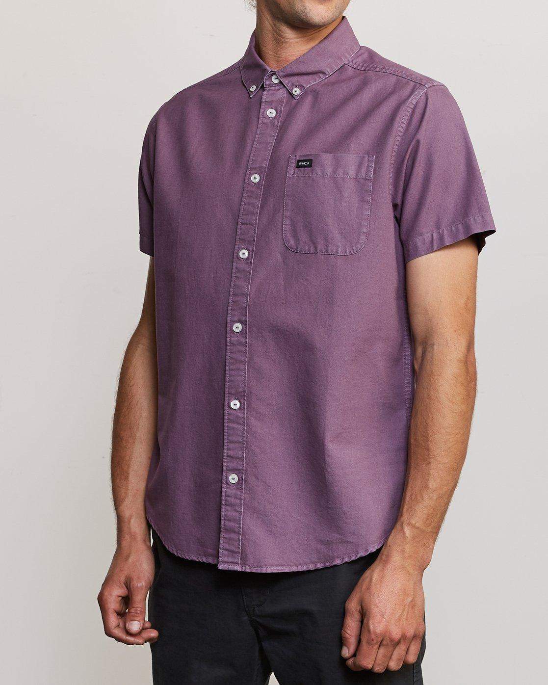 2 That'll Butter Button-Up Shirt Purple M509TRTB RVCA