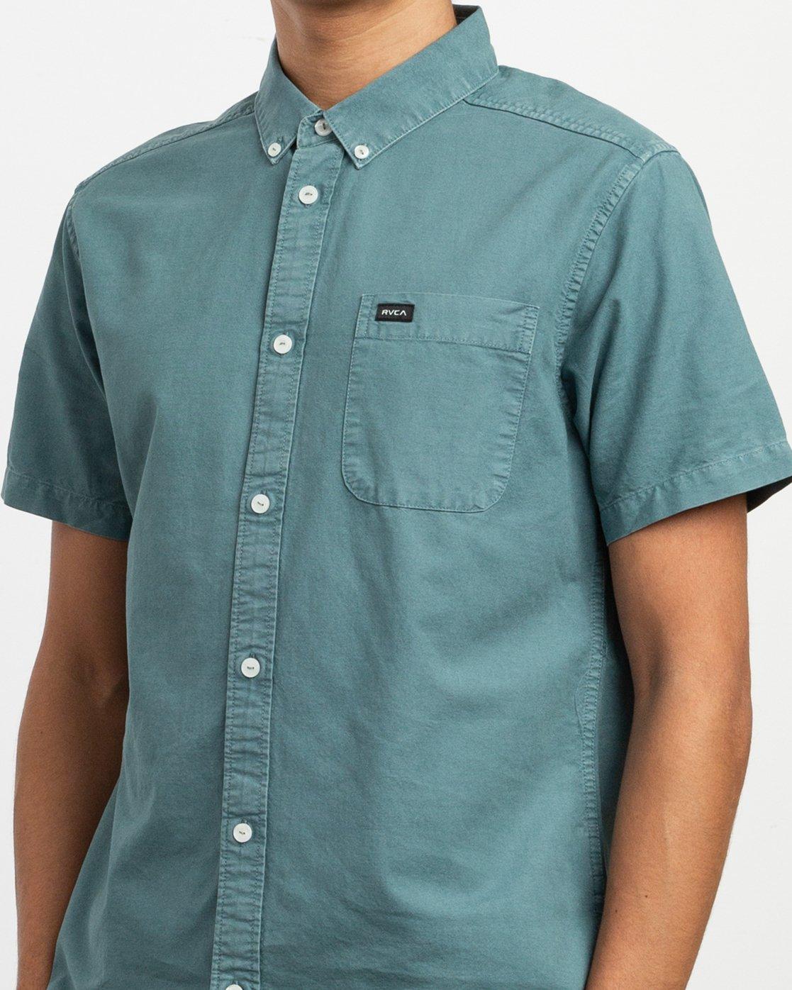 4 That'll Butter Button-Up Shirt Green M509TRTB RVCA