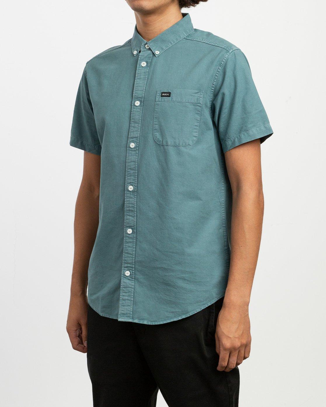 2 That'll Butter Button-Up Shirt Green M509TRTB RVCA