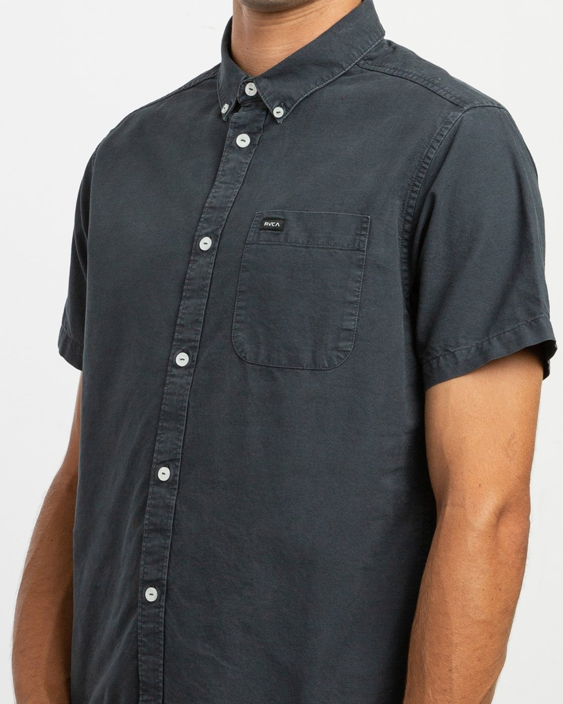 4 That'll Butter Button-Up Shirt Black M509TRTB RVCA