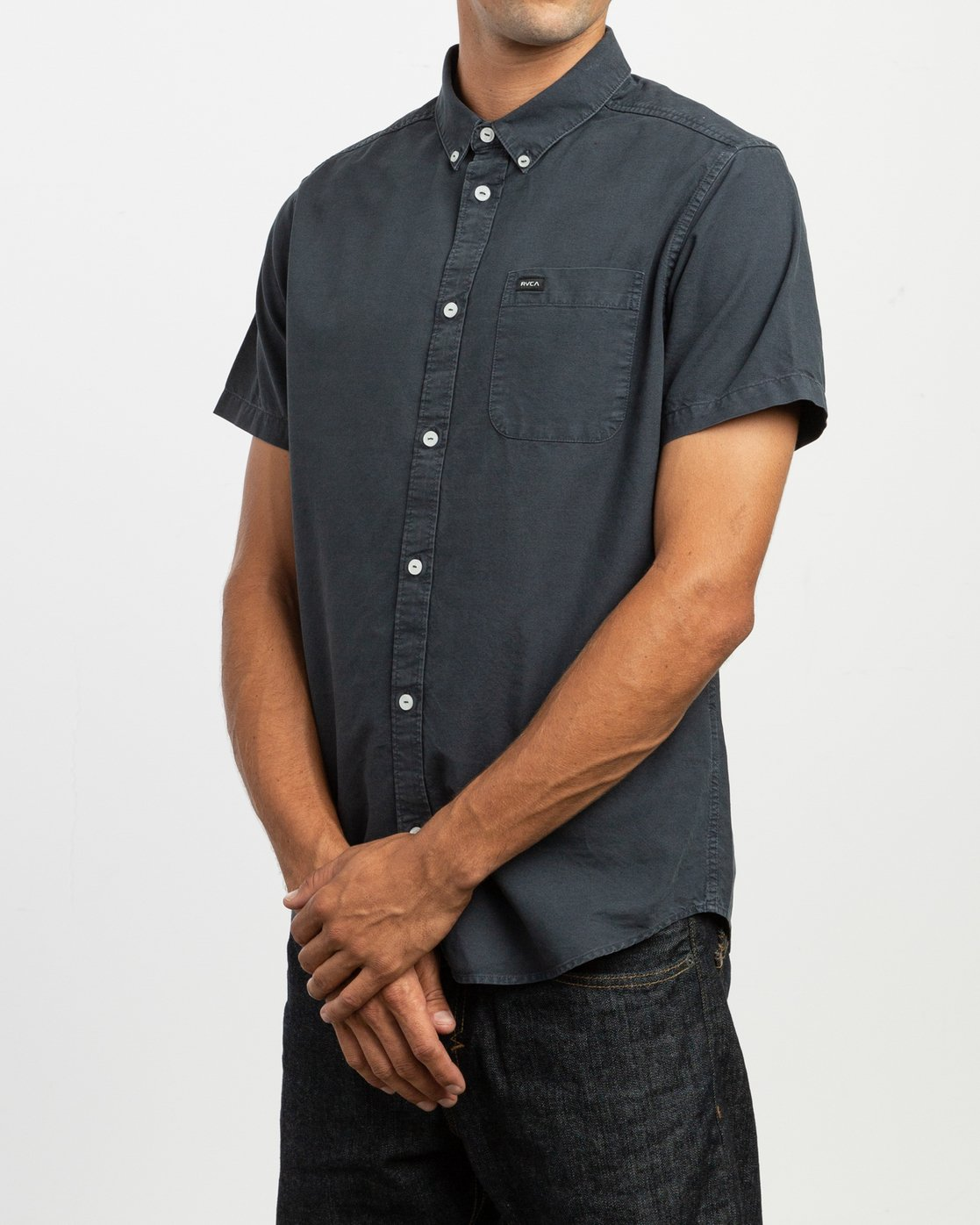 2 That'll Butter Button-Up Shirt Black M509TRTB RVCA