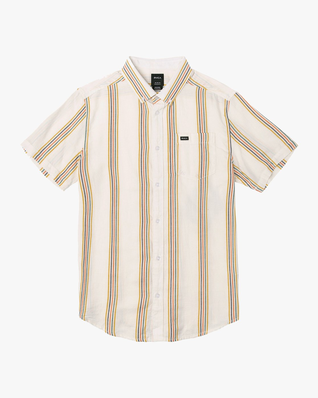 0 Split Stripe Button-Up Shirt White M509VRSS RVCA