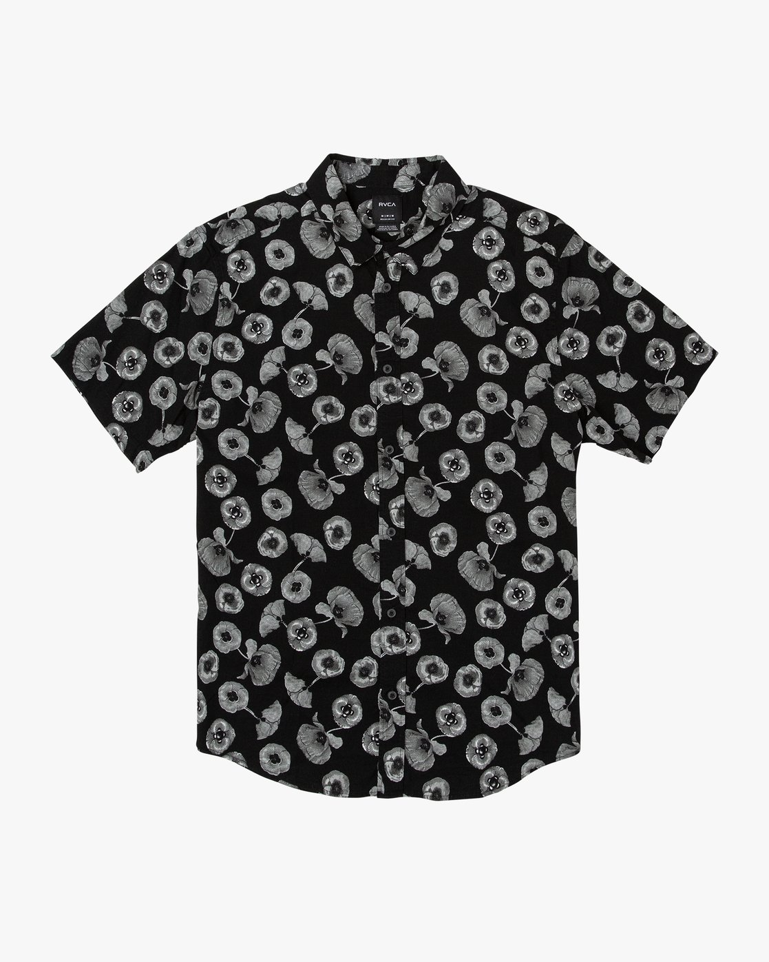 4 Peace Poppy Button-Up Shirt Black M510VRPP RVCA