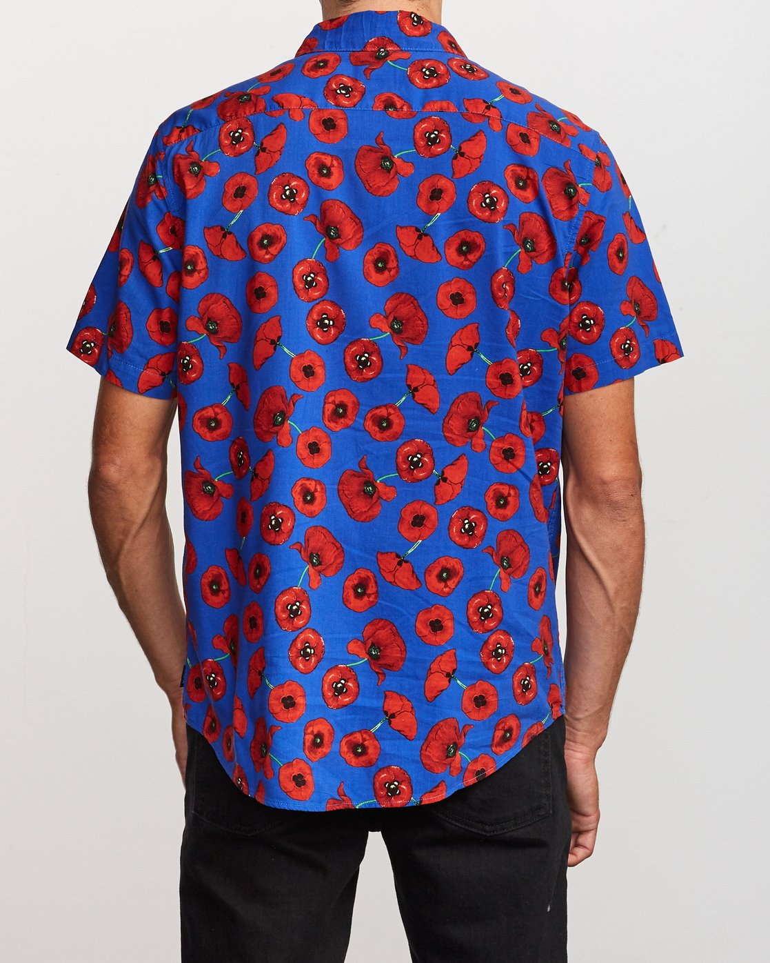 3 Peace Poppy Button-Up Shirt Red M510VRPP RVCA