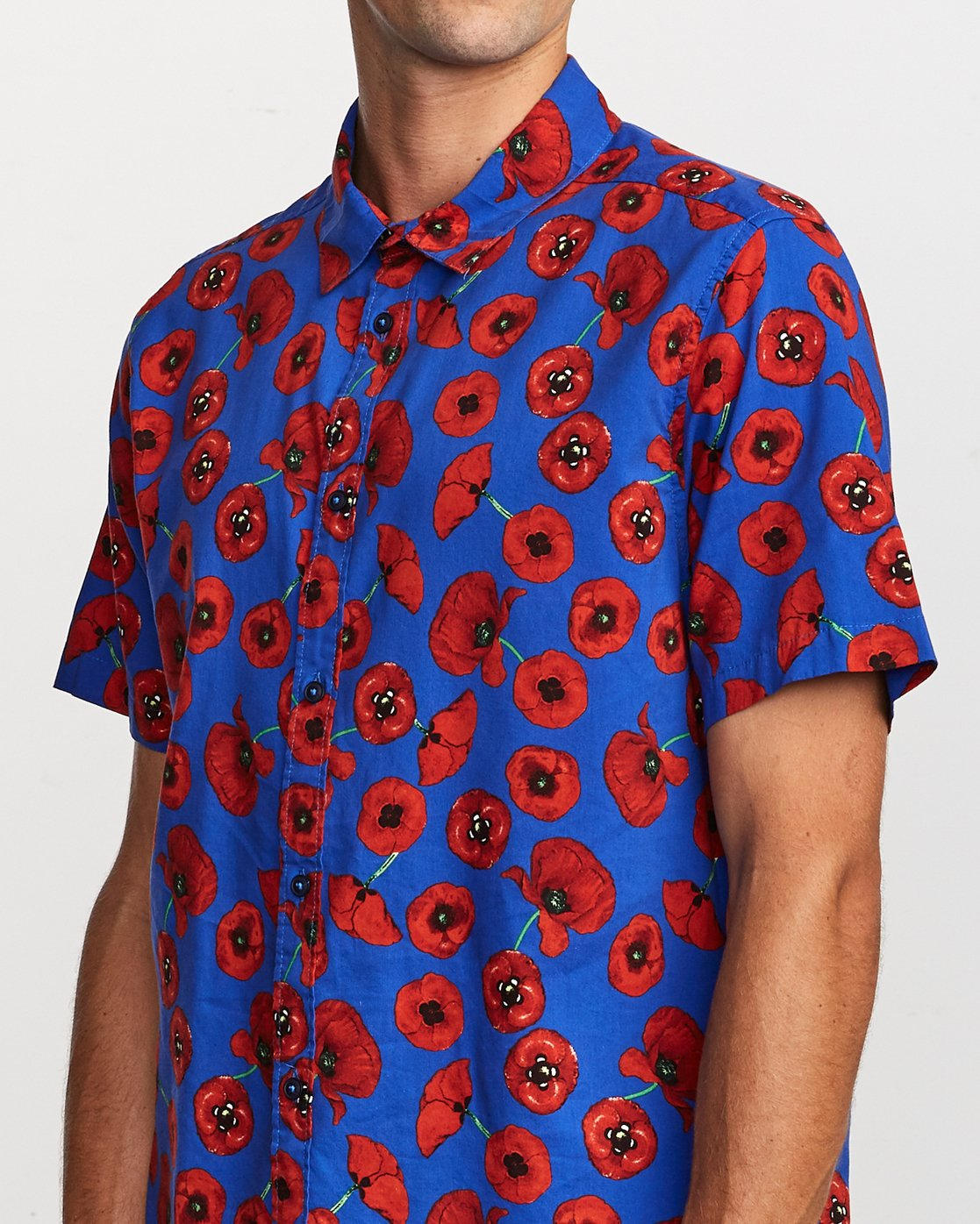 4 Peace Poppy Button-Up Shirt Red M510VRPP RVCA