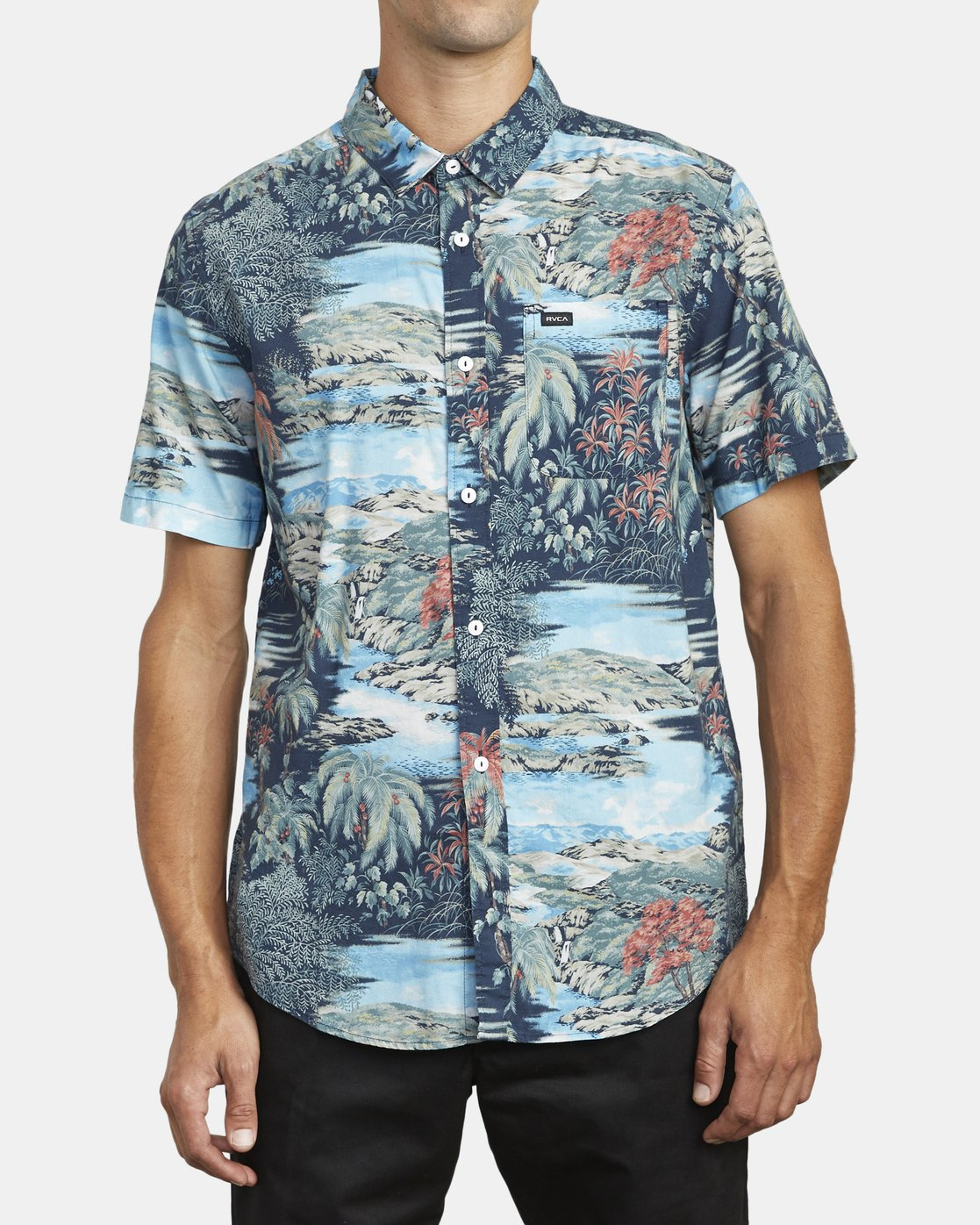 0 PARADISO SHORT SLEEVE SHIRT Grey M5113RPD RVCA