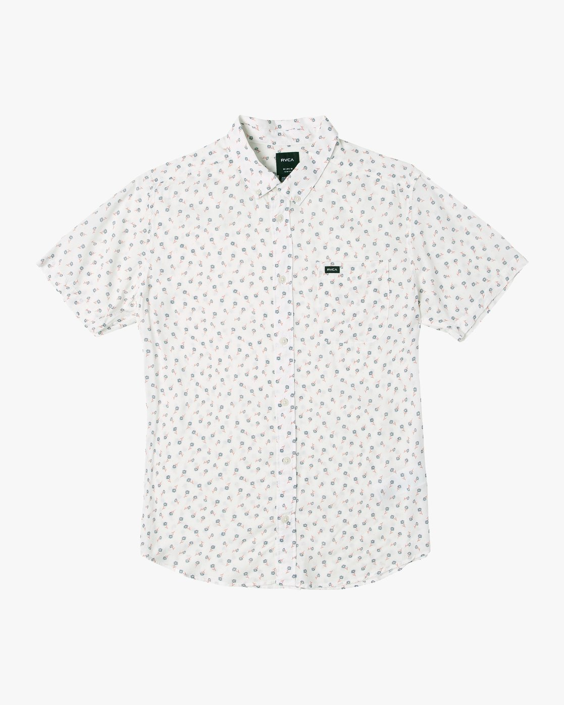 0 Prelude Floral Button-Up Shirt White M511VRPF RVCA