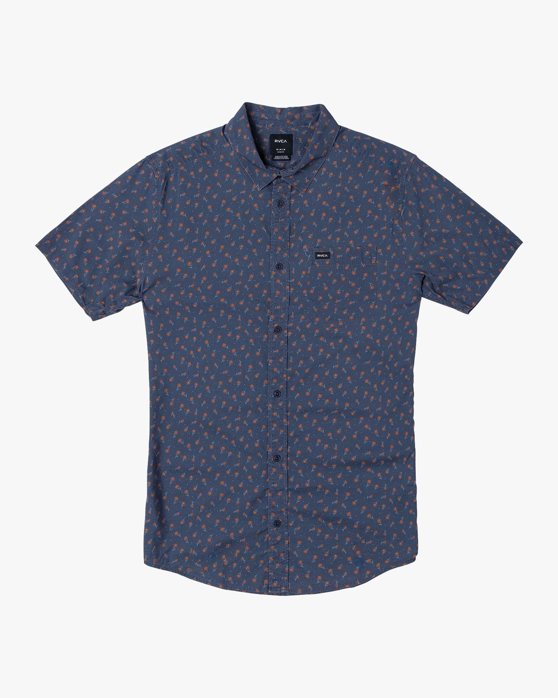 4 Prelude Floral Button-Up Shirt Blue M511VRPF RVCA