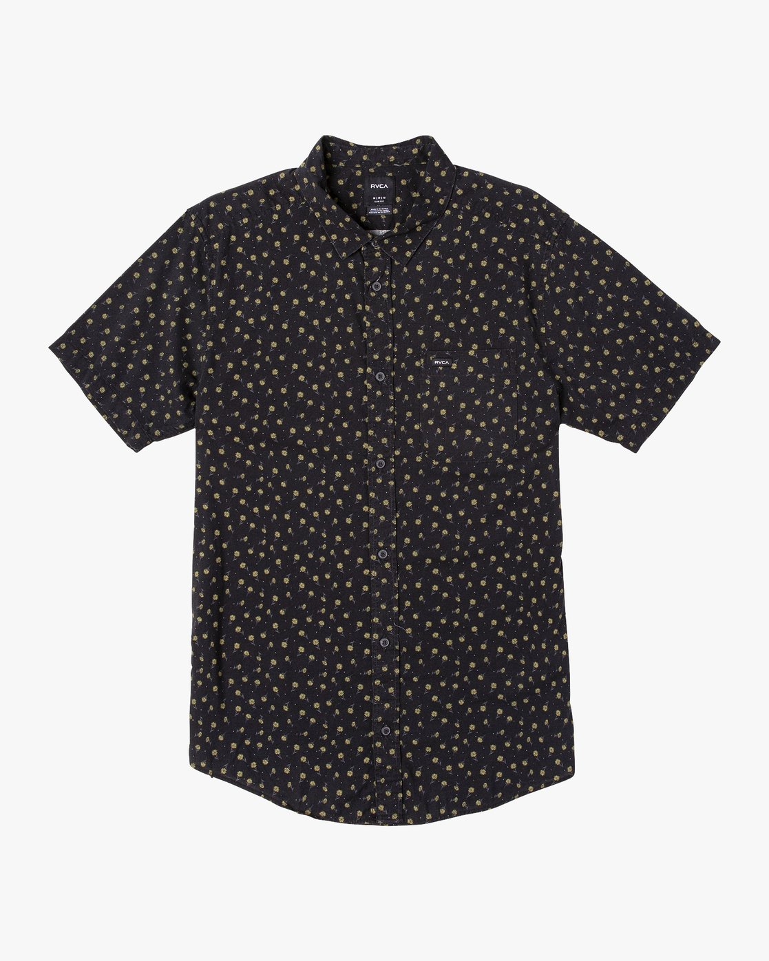 3 Prelude Floral Button-Up Shirt Black M511VRPF RVCA