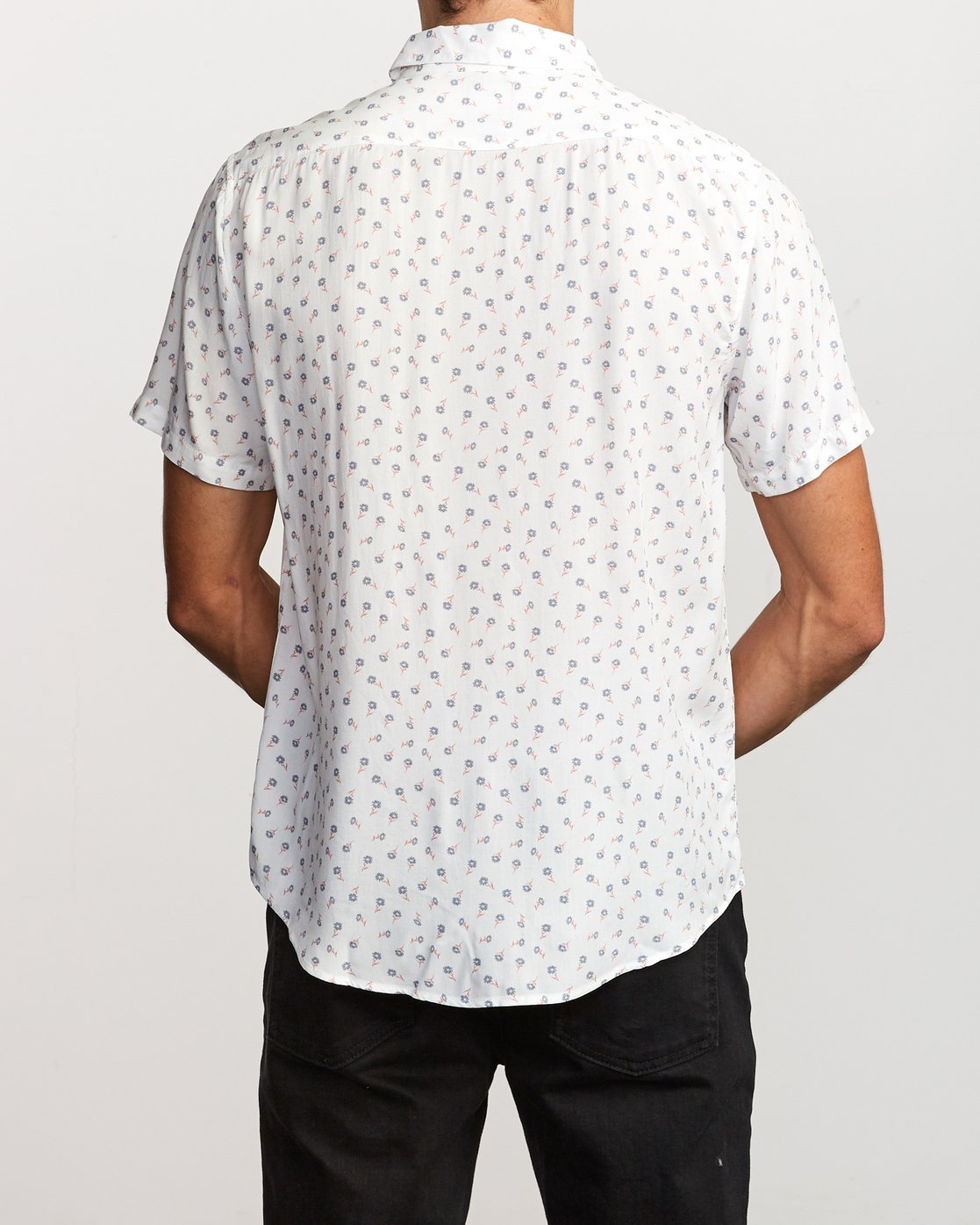 3 Prelude Floral Button-Up Shirt White M511VRPF RVCA