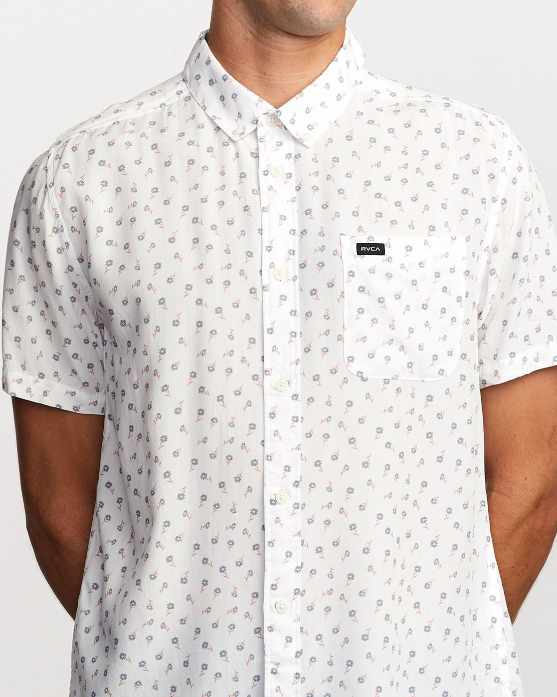 4 Prelude Floral Button-Up Shirt White M511VRPF RVCA
