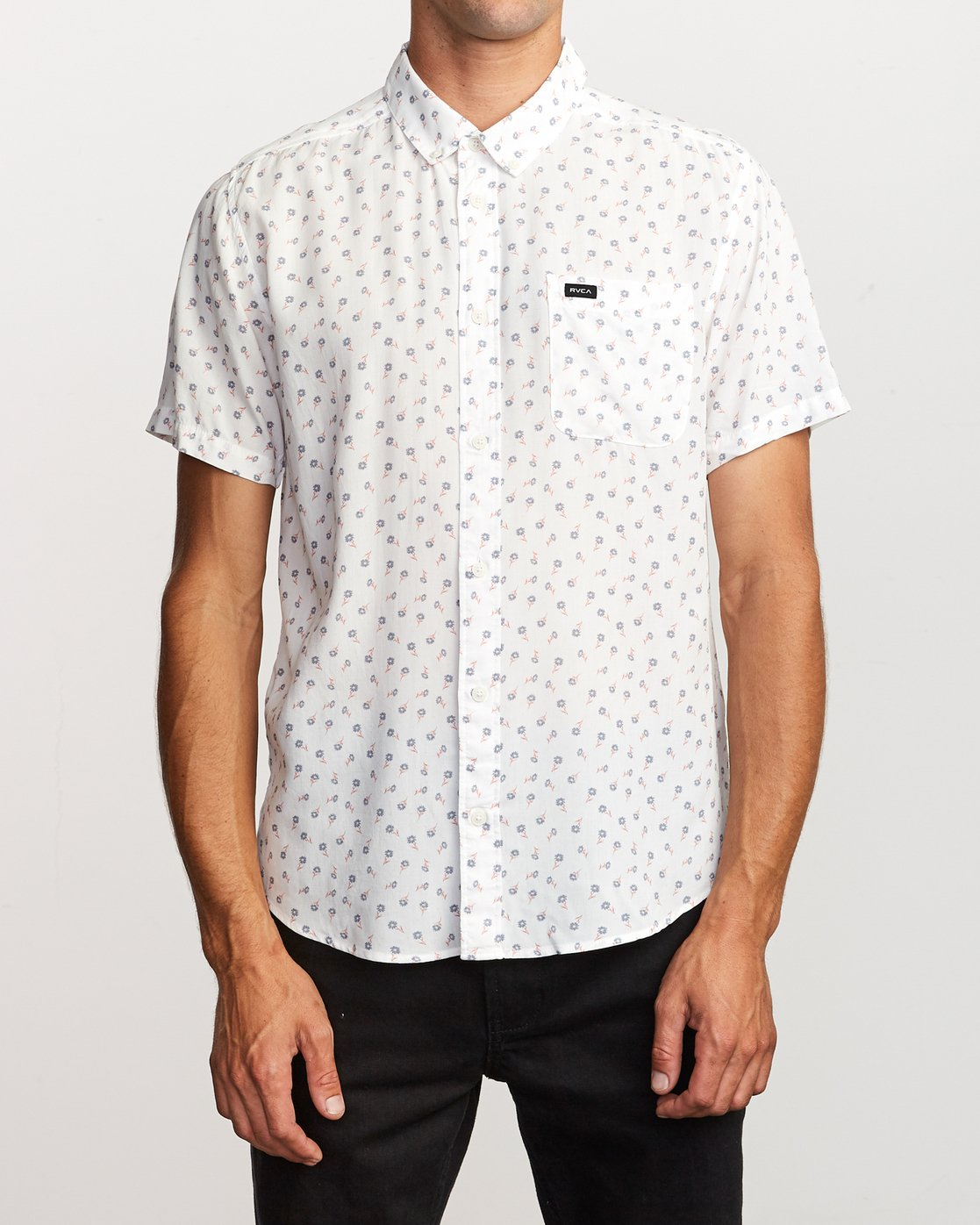 1 Prelude Floral Button-Up Shirt White M511VRPF RVCA