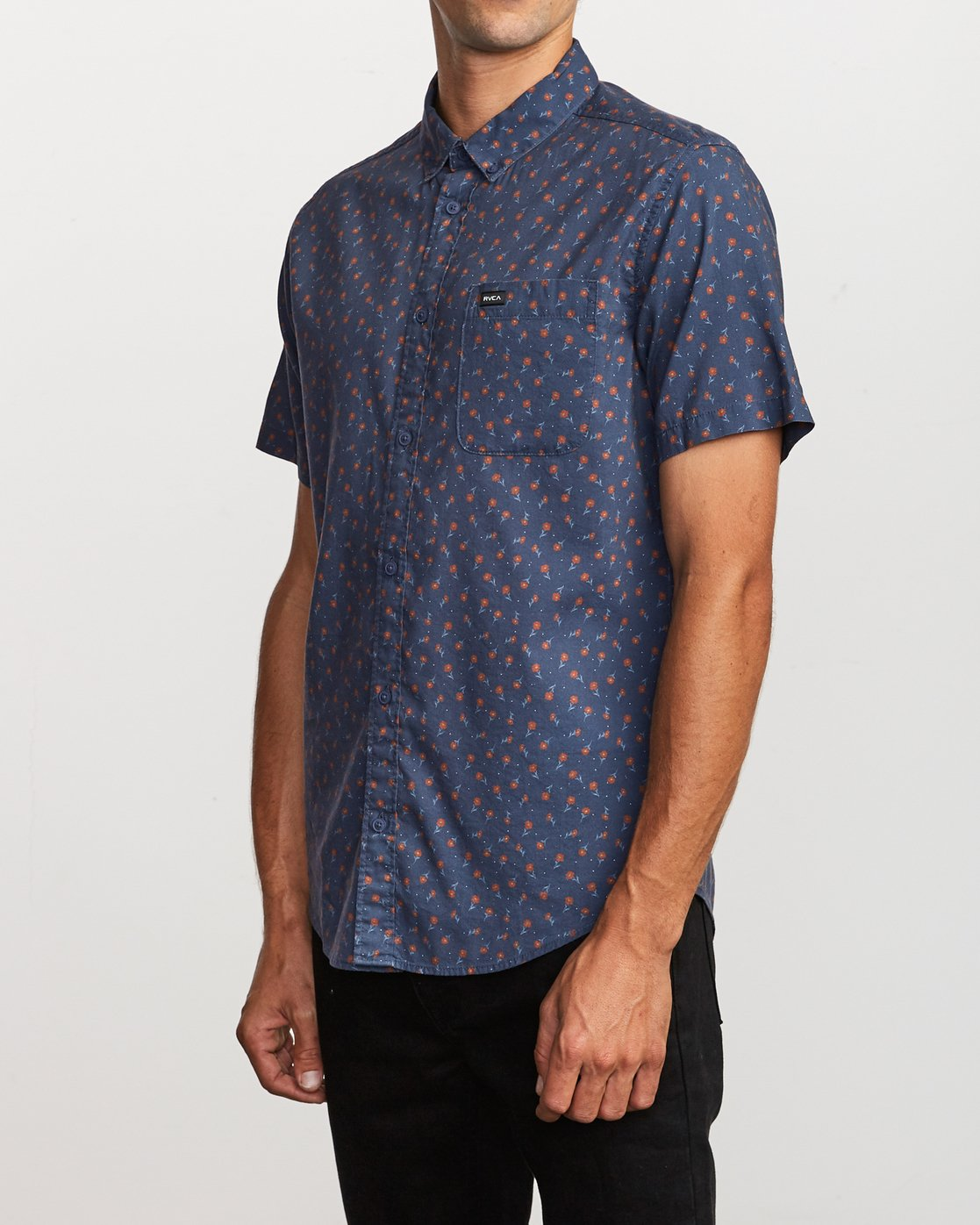 2 Prelude Floral Button-Up Shirt Blue M511VRPF RVCA