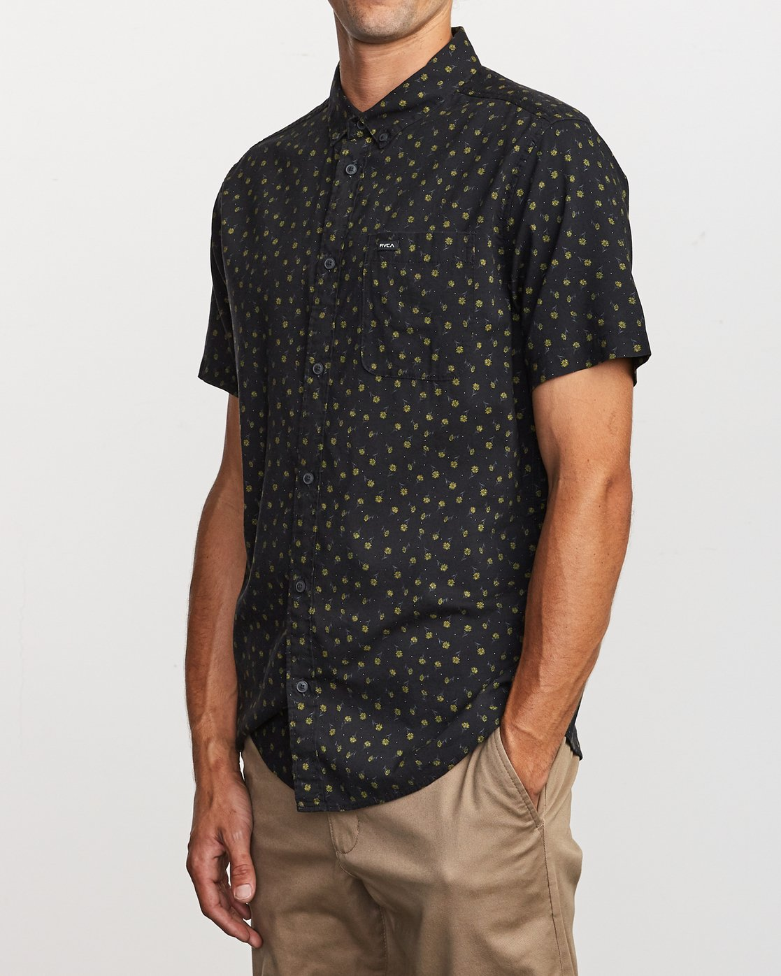 2 Prelude Floral Button-Up Shirt Black M511VRPF RVCA