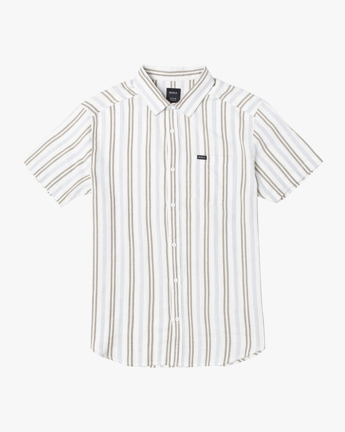 4 DISPLACED STRIPE SHORT SLEEVE SHIRT White M5133RDS RVCA
