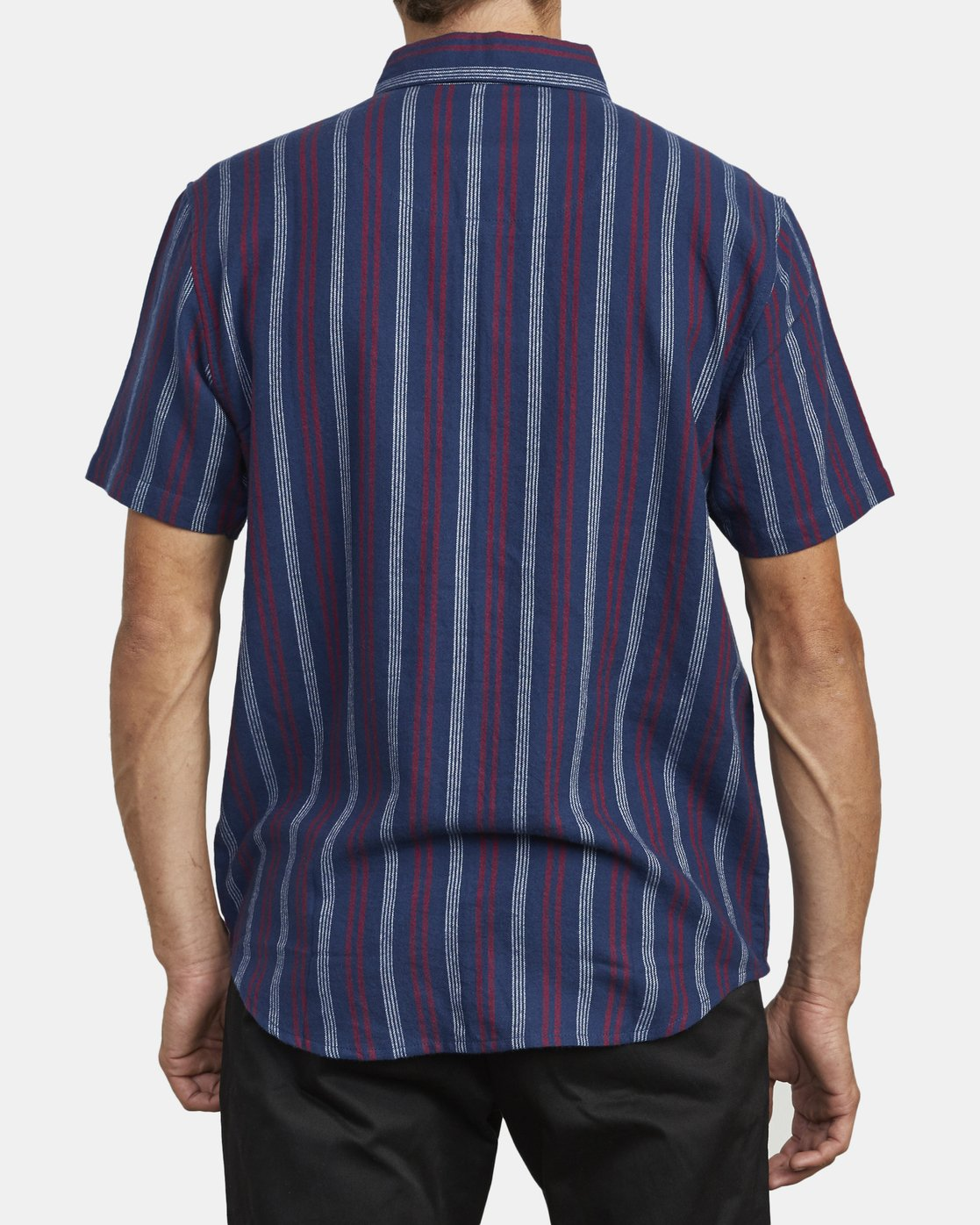 1 DISPLACED STRIPE SHORT SLEEVE SHIRT Blue M5133RDS RVCA