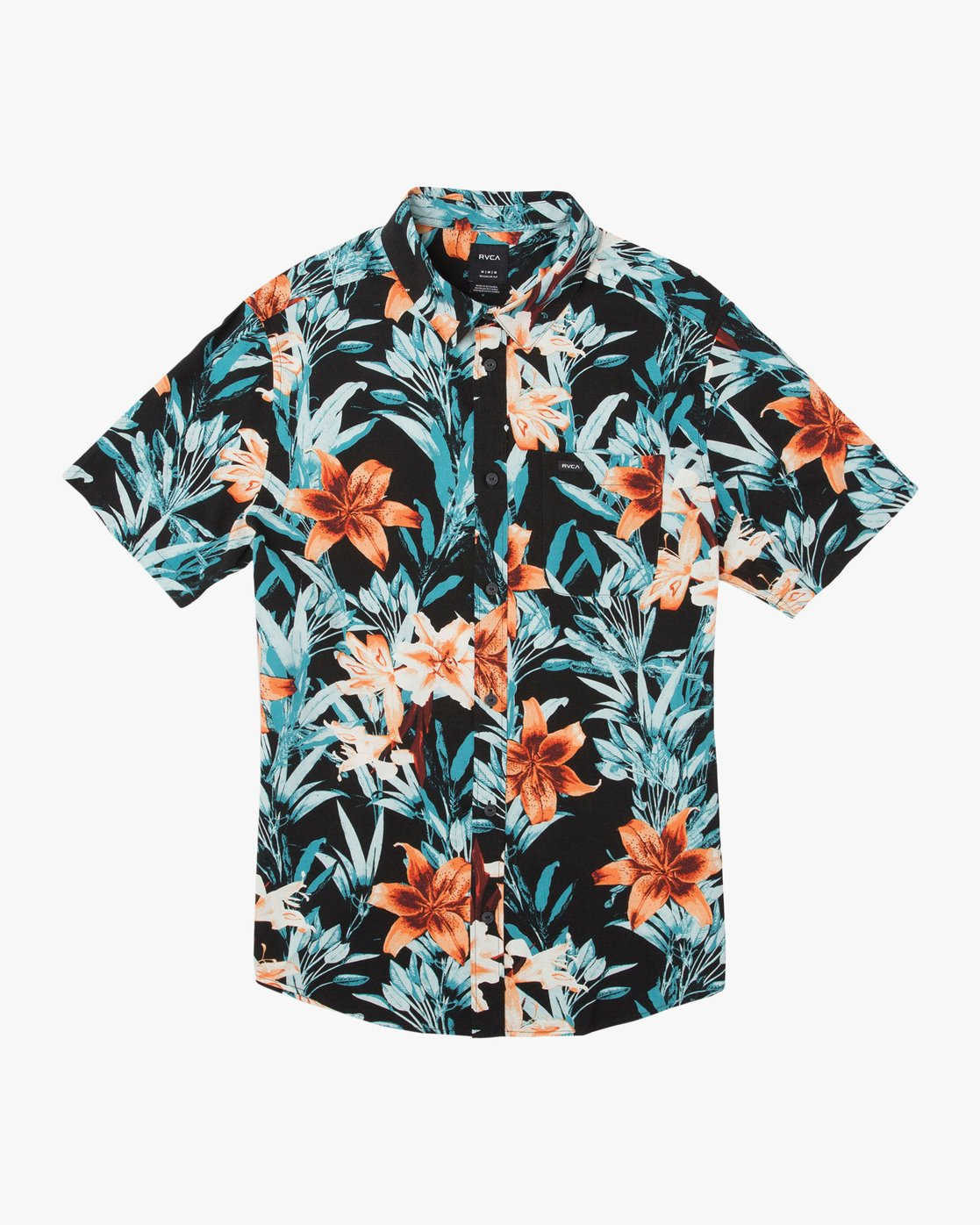 0 Montague Floral Button-Up Shirt Black M513TRMF RVCA
