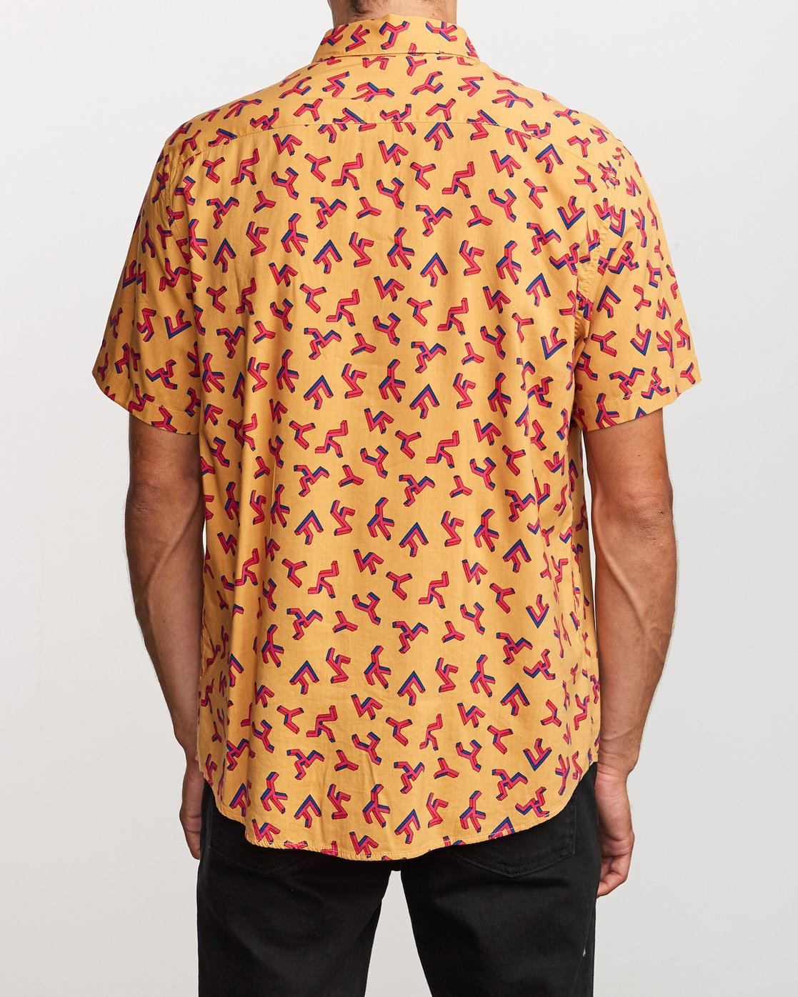 3 Slappy Printed Button-Up Shirt Orange M513VRSP RVCA