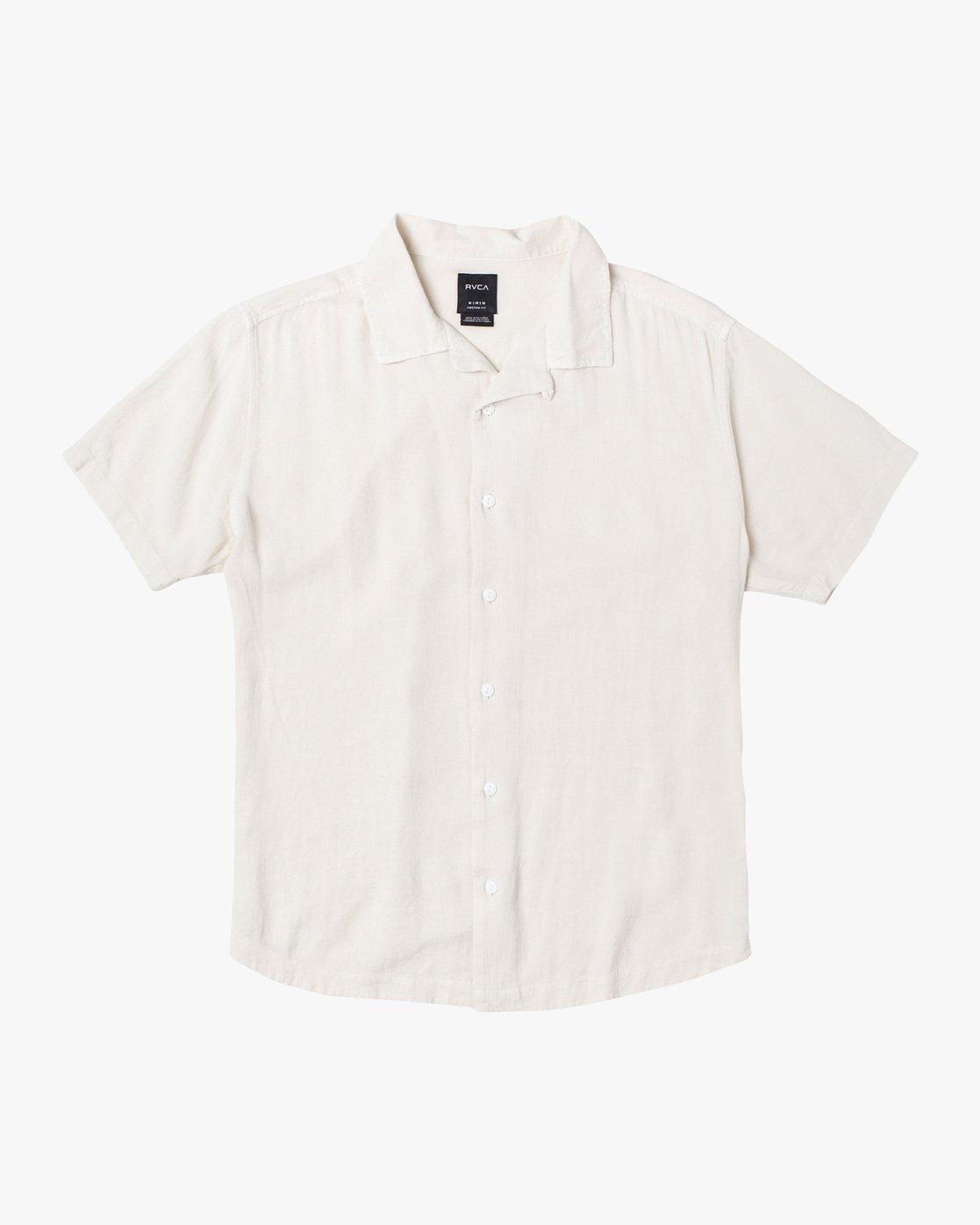 0 BEAT SHORT SLEEVE SHIRT White M5143RBS RVCA