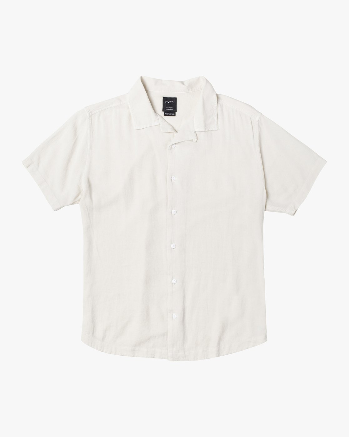 1 BEAT SHORT SLEEVE SHIRT White M5143RBS RVCA