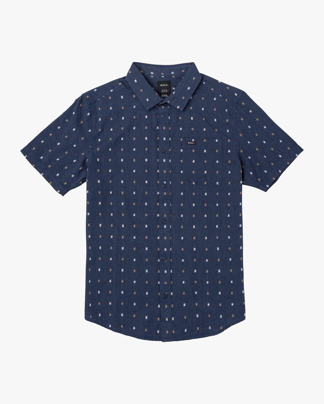 0 Aye Kat Button-Up Shirt Red M514TRAK RVCA