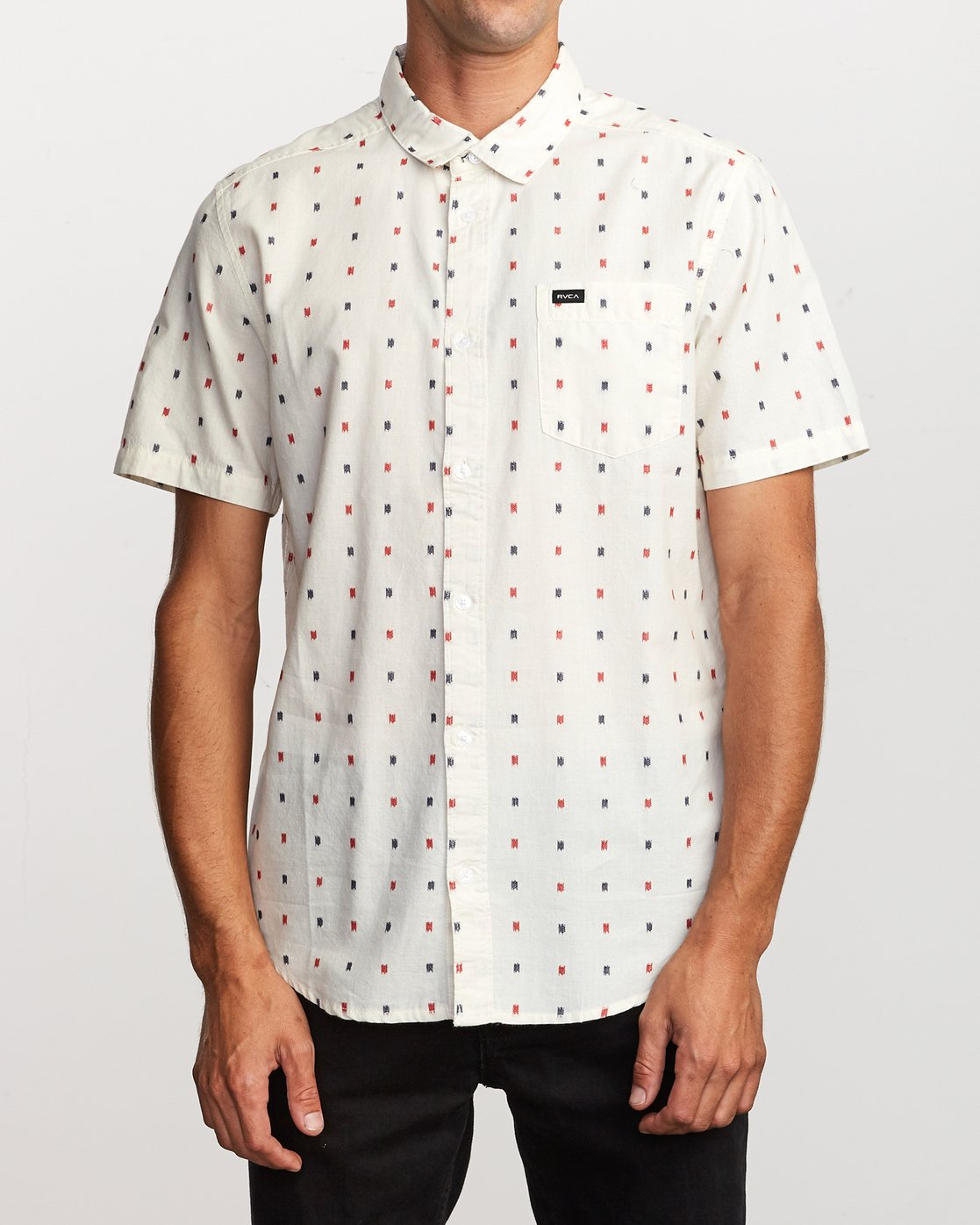 1 Aye Kat Button-Up Shirt White M514TRAK RVCA