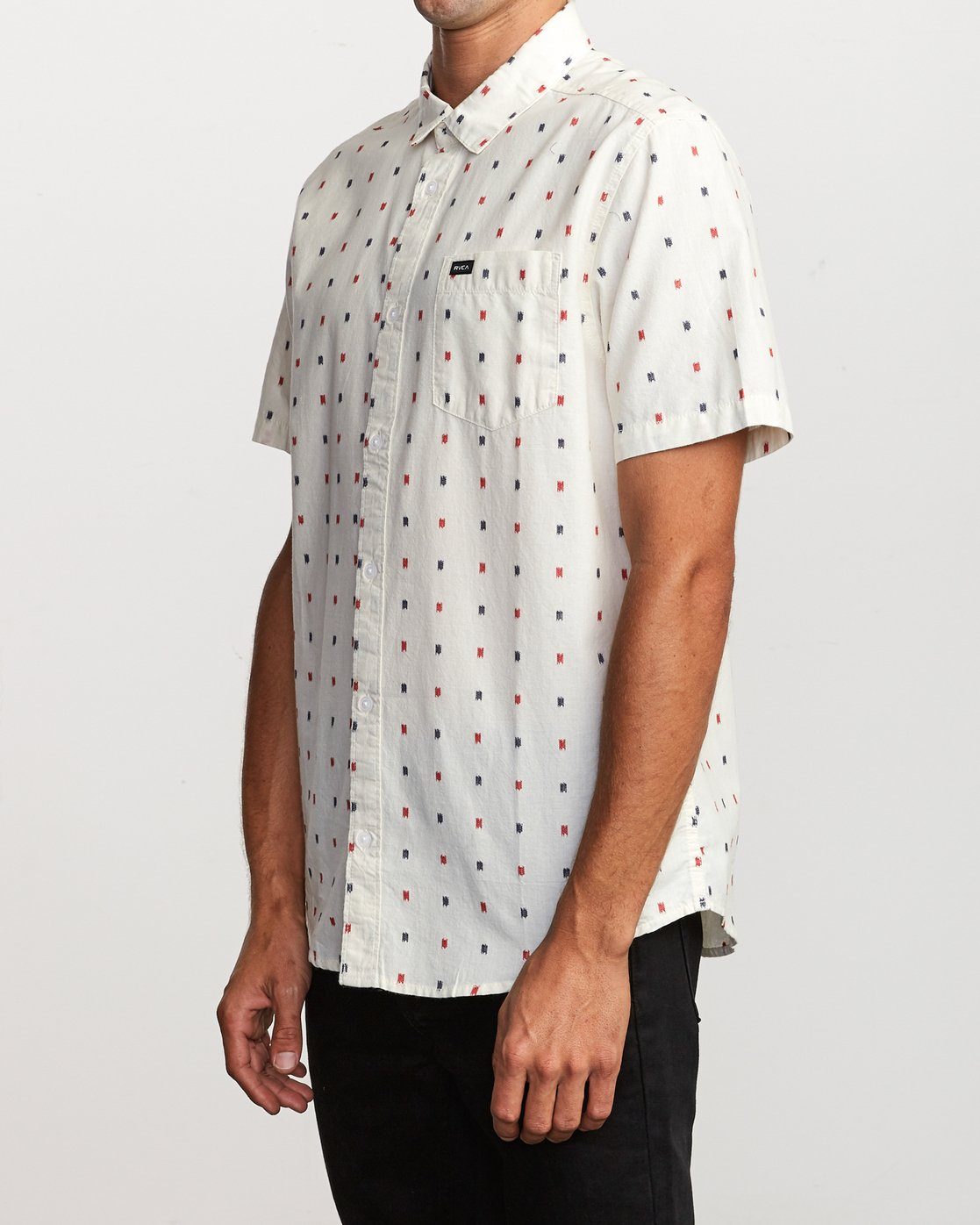 3 Aye Kat Button-Up Shirt White M514TRAK RVCA
