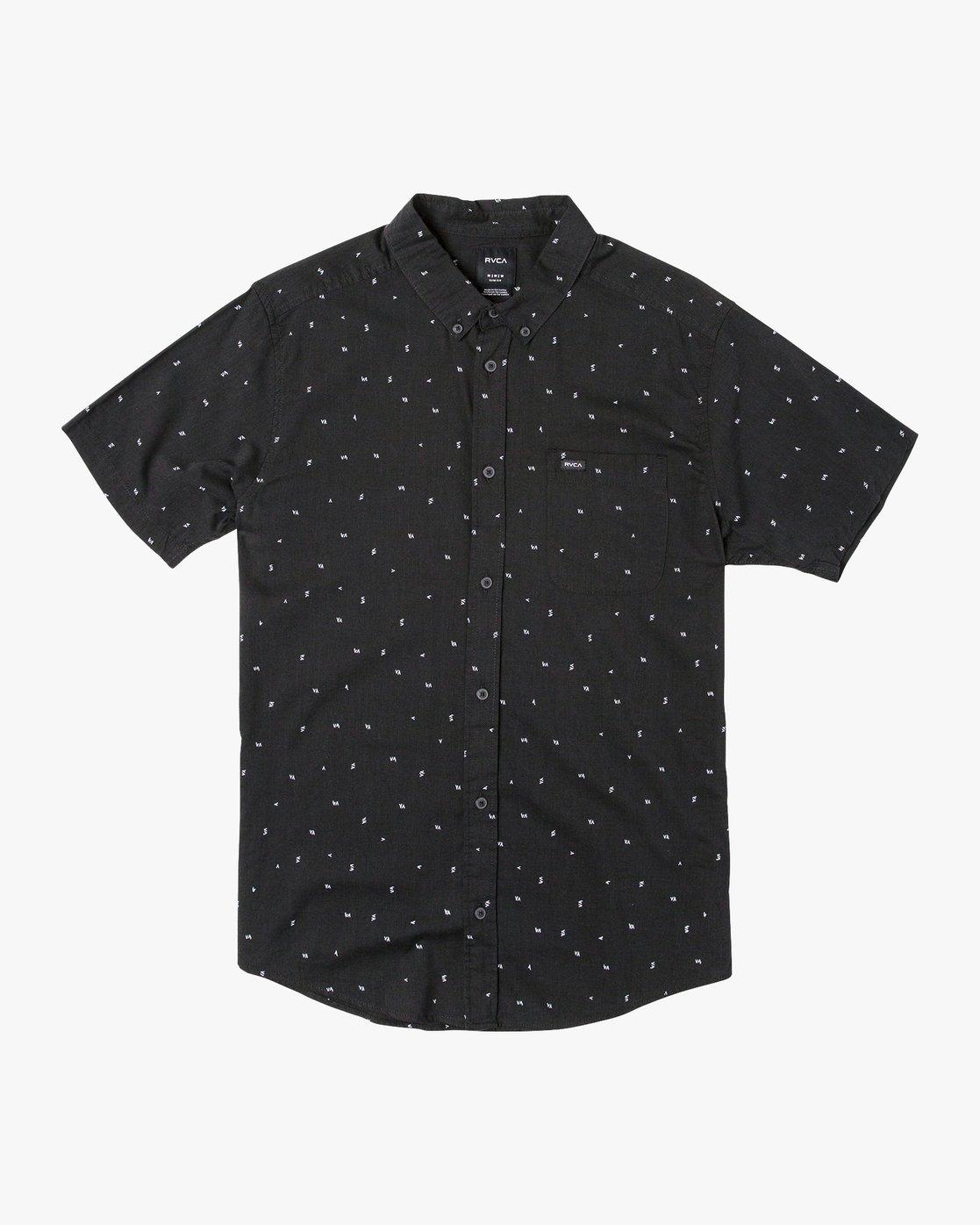 4 VA Little Buds Button-Up Shirt Black M514VRVL RVCA