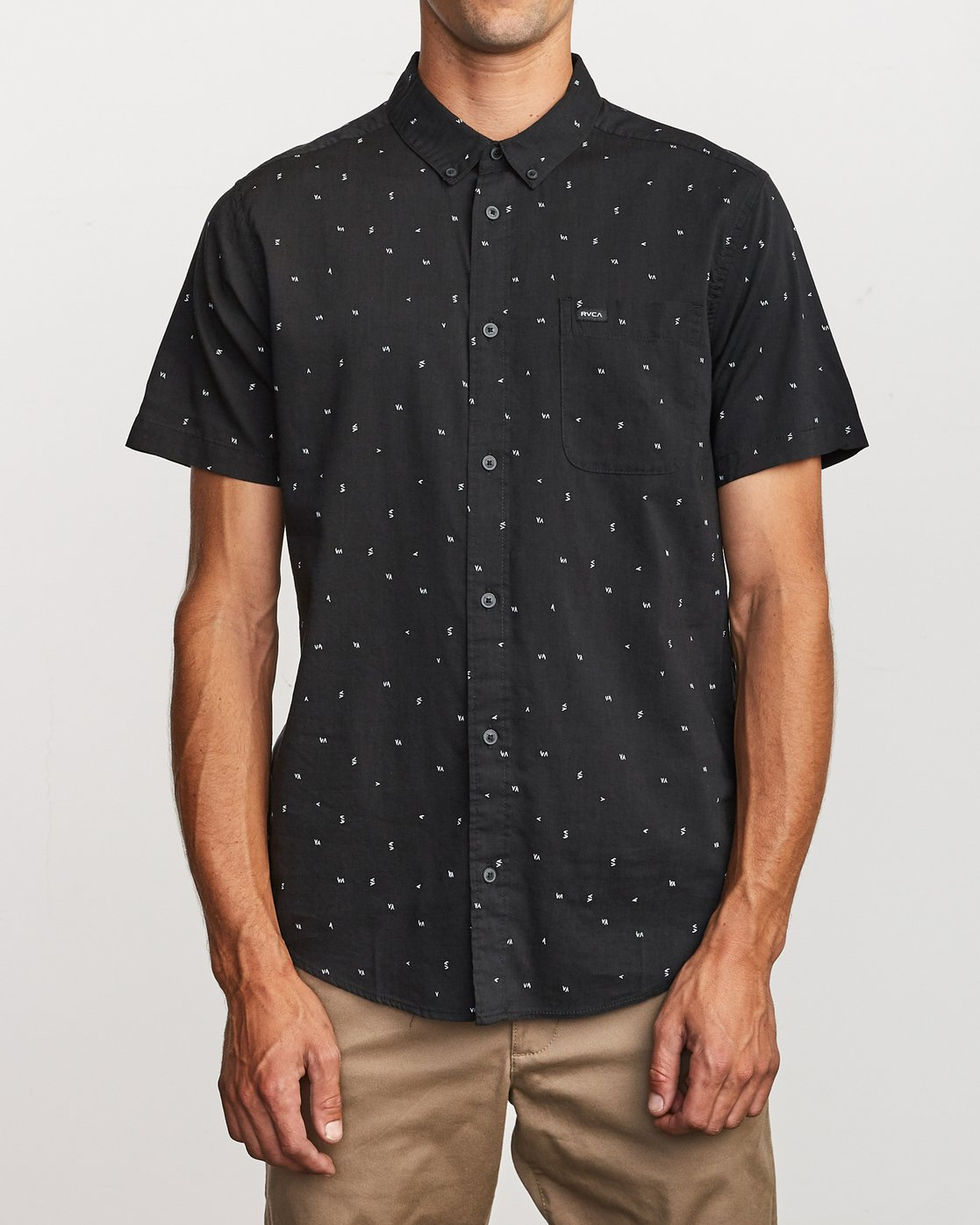 1 VA Little Buds Button-Up Shirt Black M514VRVL RVCA