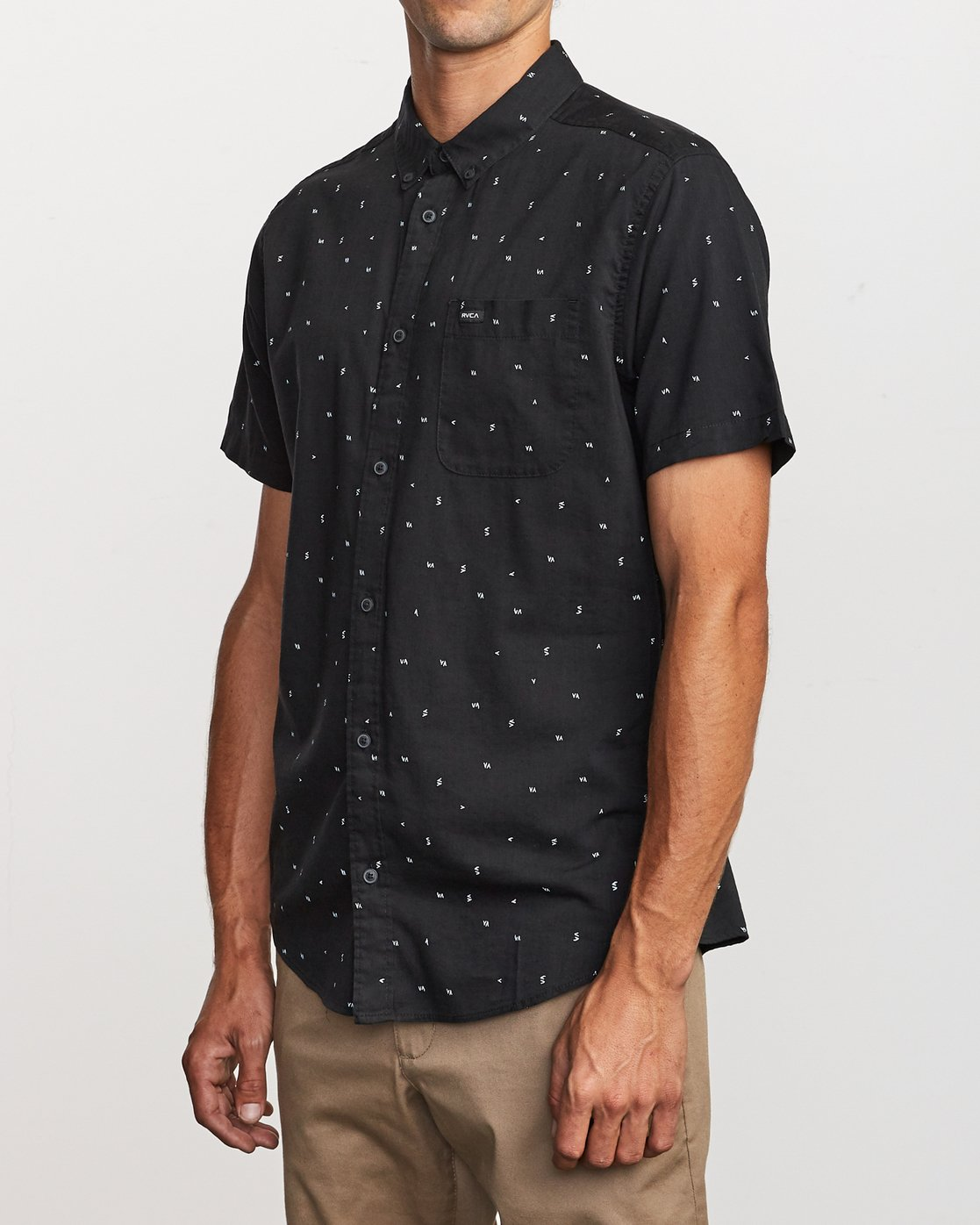 2 VA Little Buds Button-Up Shirt Black M514VRVL RVCA