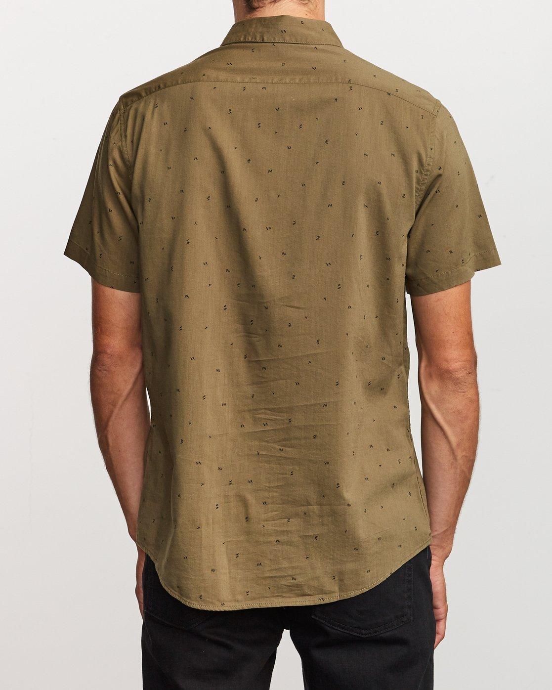 3 VA Little Buds Button-Up Shirt Green M514VRVL RVCA