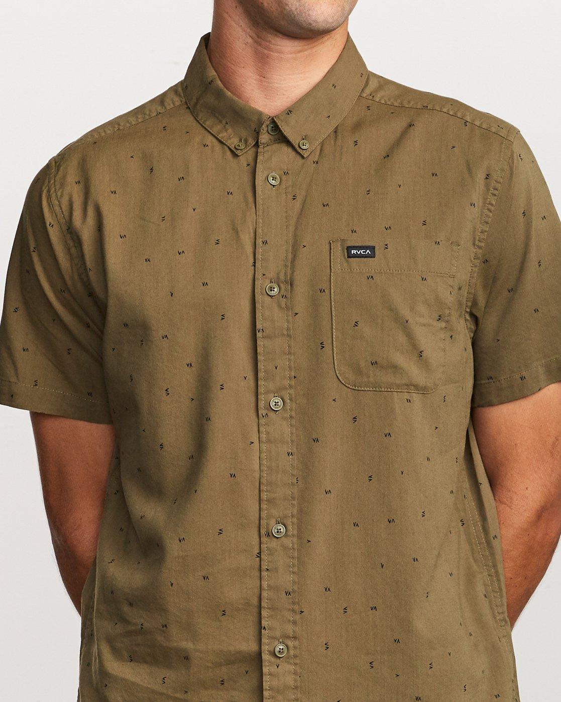 4 VA Little Buds Button-Up Shirt Green M514VRVL RVCA
