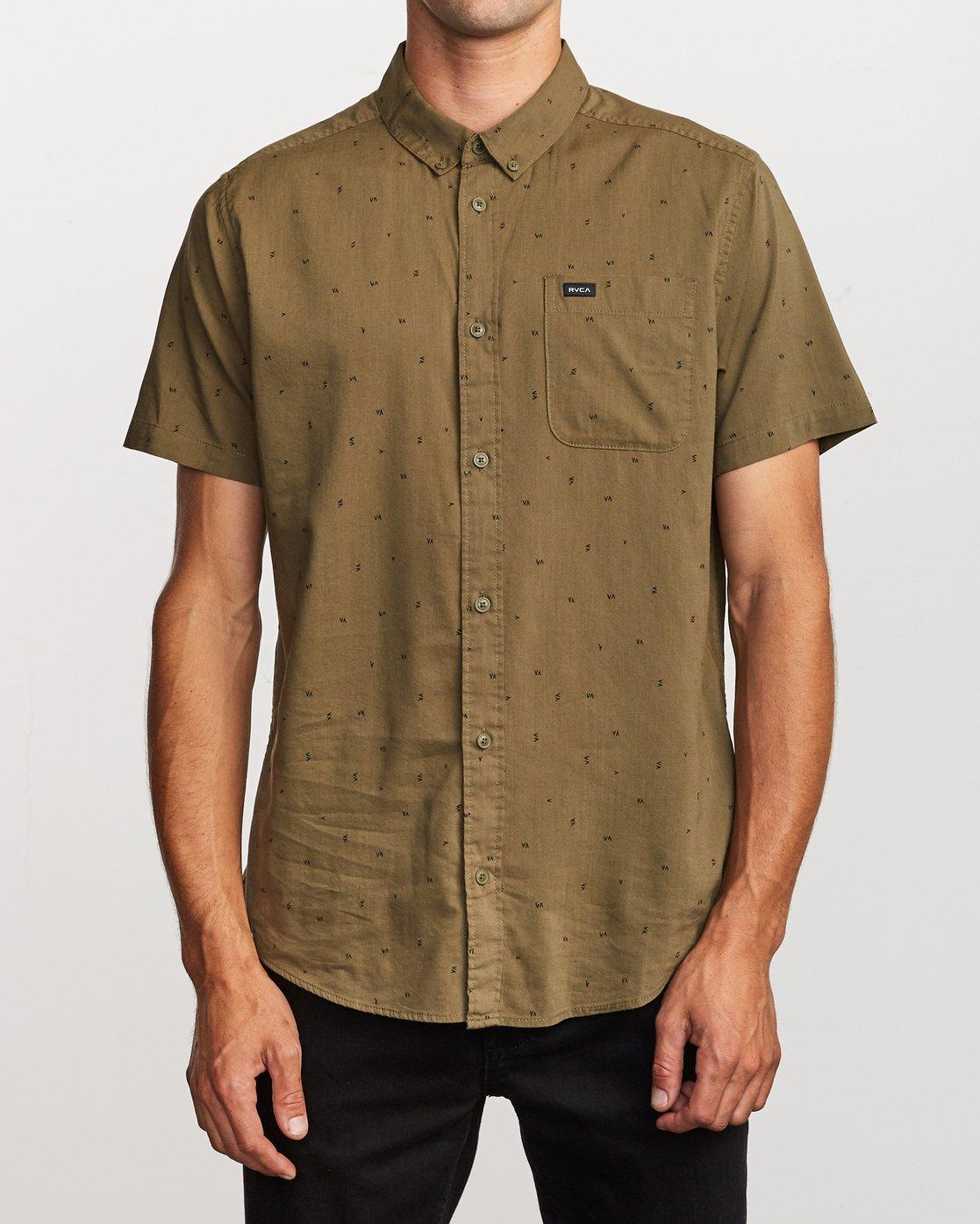 1 VA Little Buds Button-Up Shirt Green M514VRVL RVCA