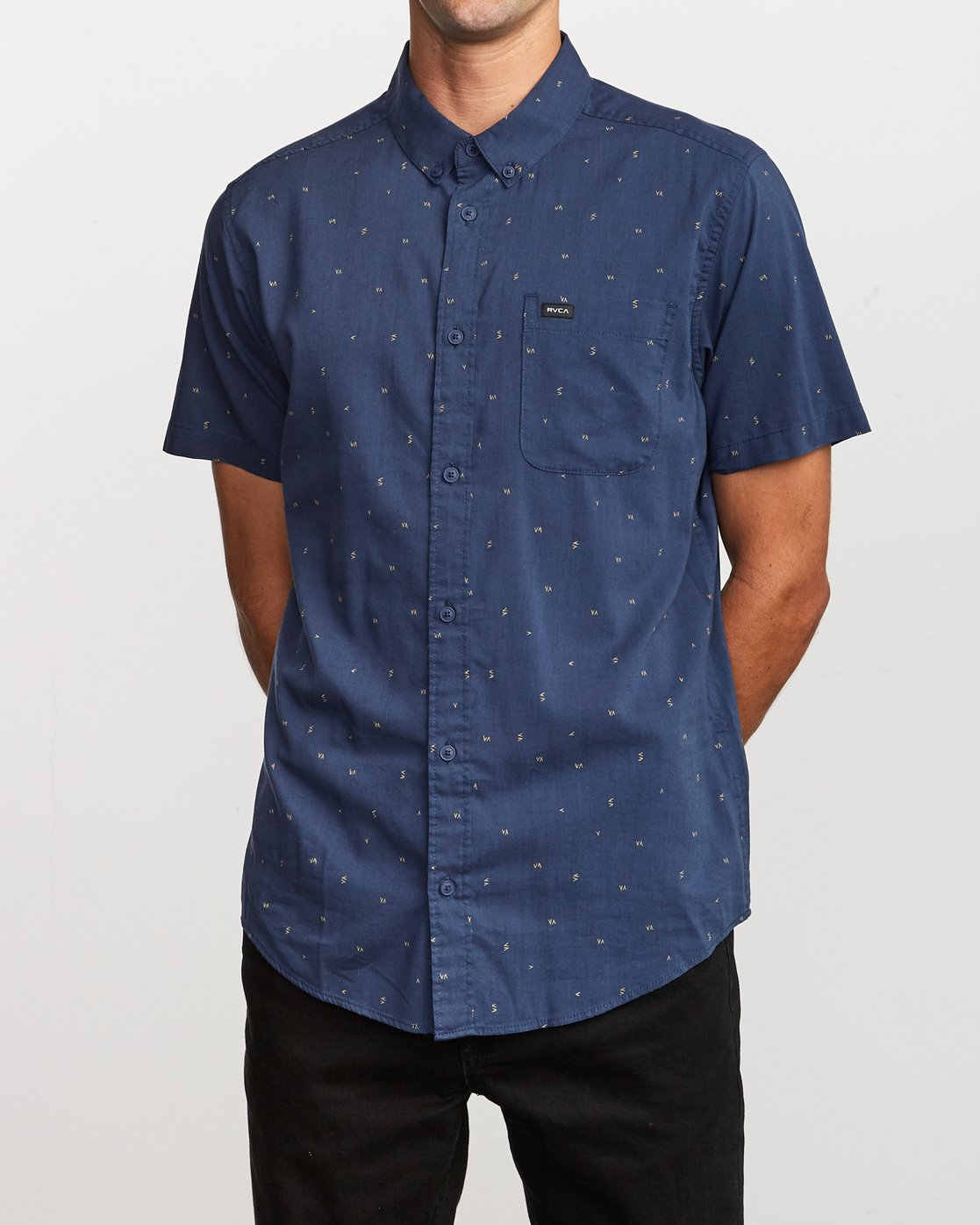 1 VA Little Buds Button-Up Shirt Blue M514VRVL RVCA