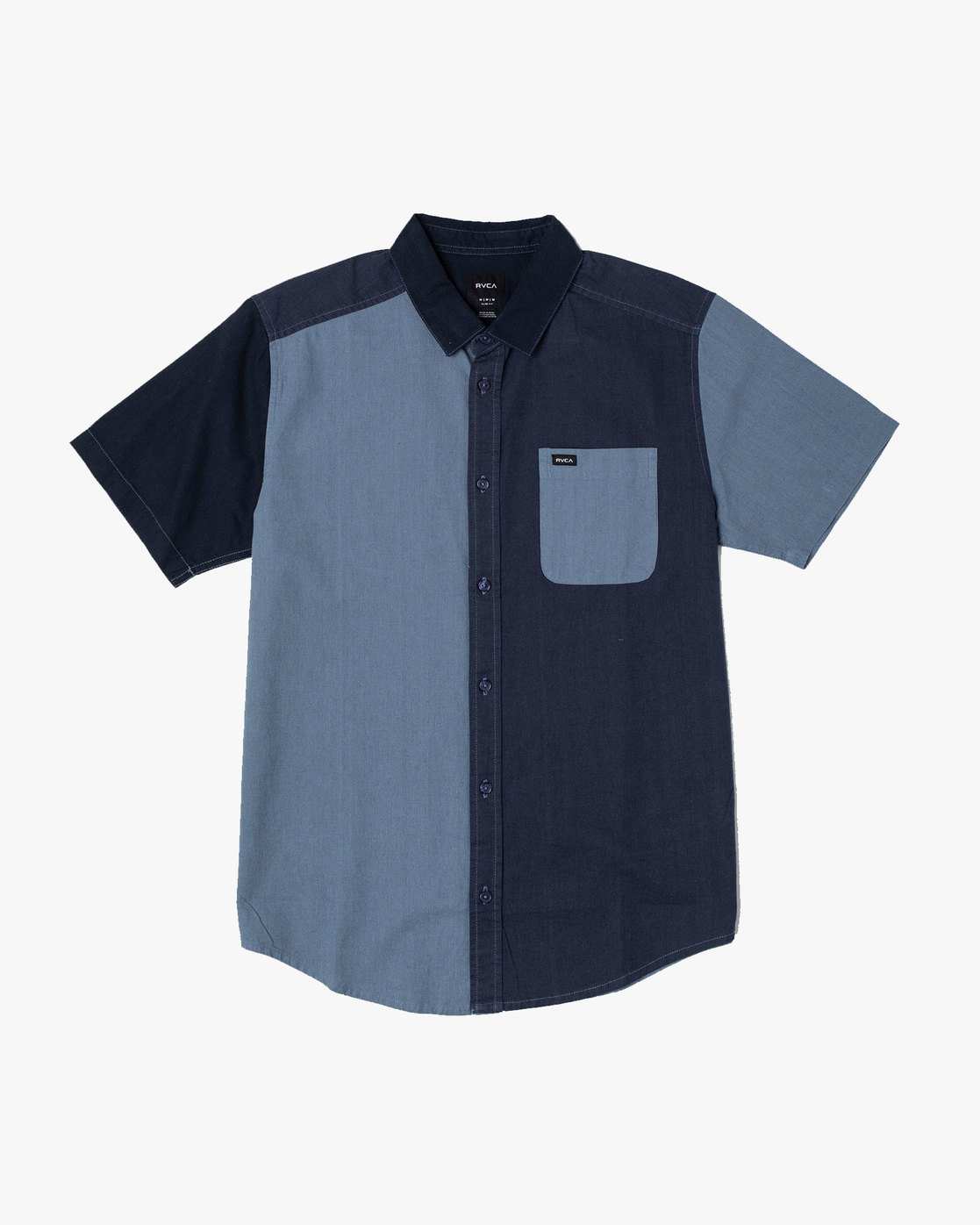 2 BLOCKED CRUSHED BUTTON-UP SHIRT Blue M5151RBC RVCA