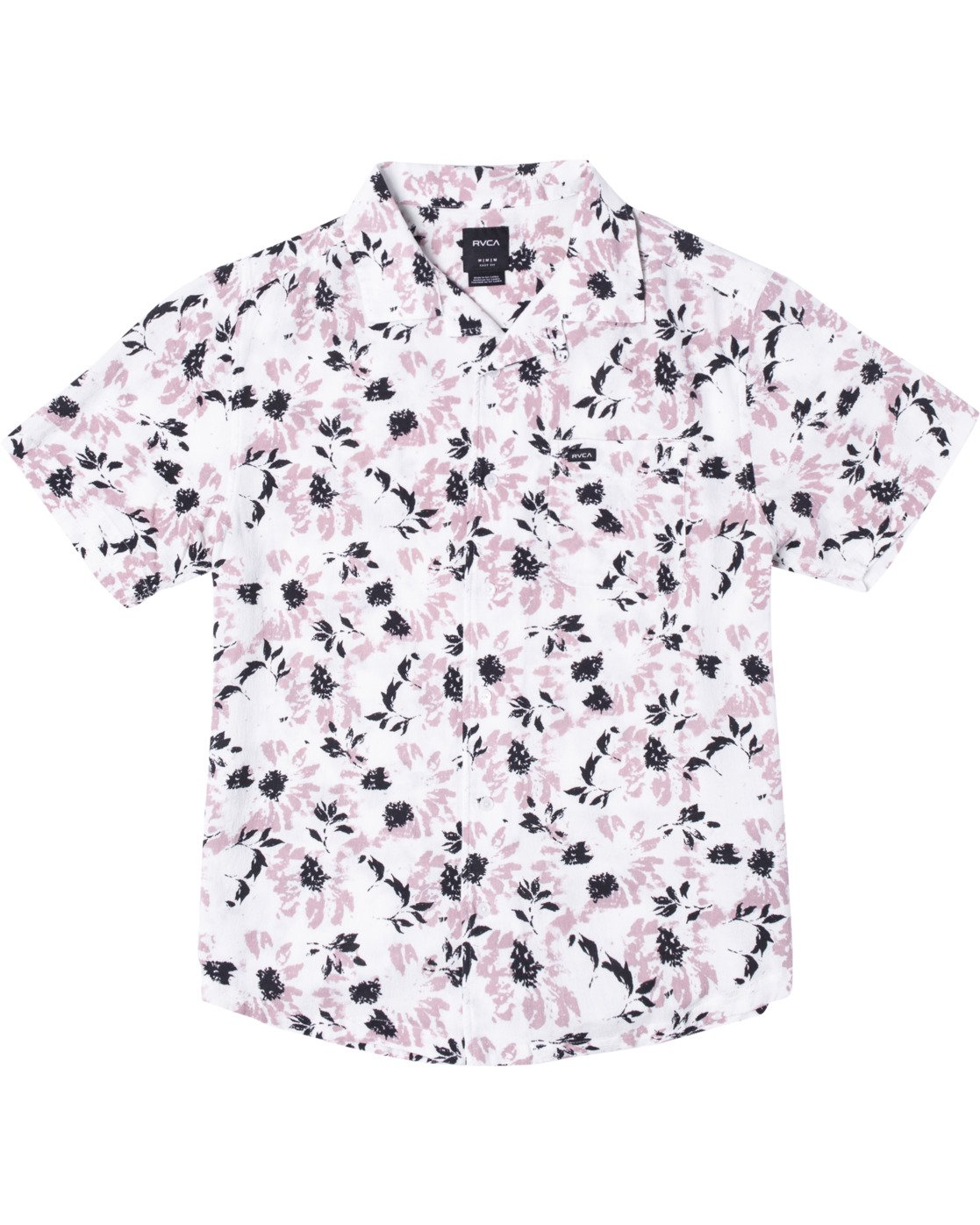 1 Beat Print Short Sleeve Shirt White M5153RBS RVCA