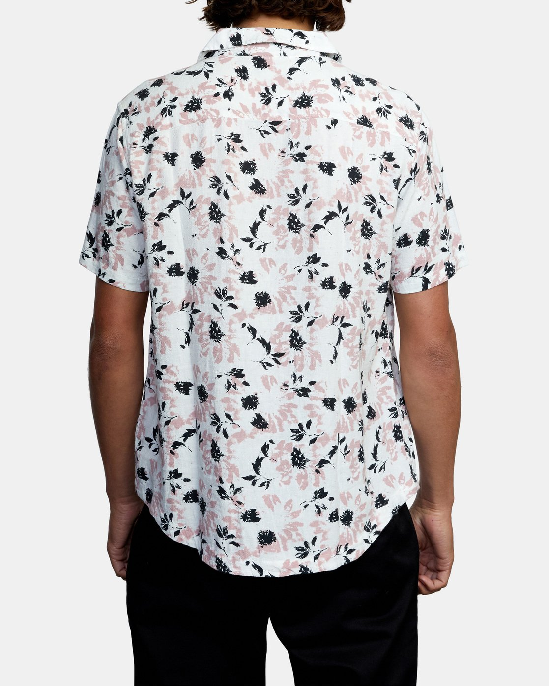 3 Beat Print Short Sleeve Shirt White M5153RBS RVCA