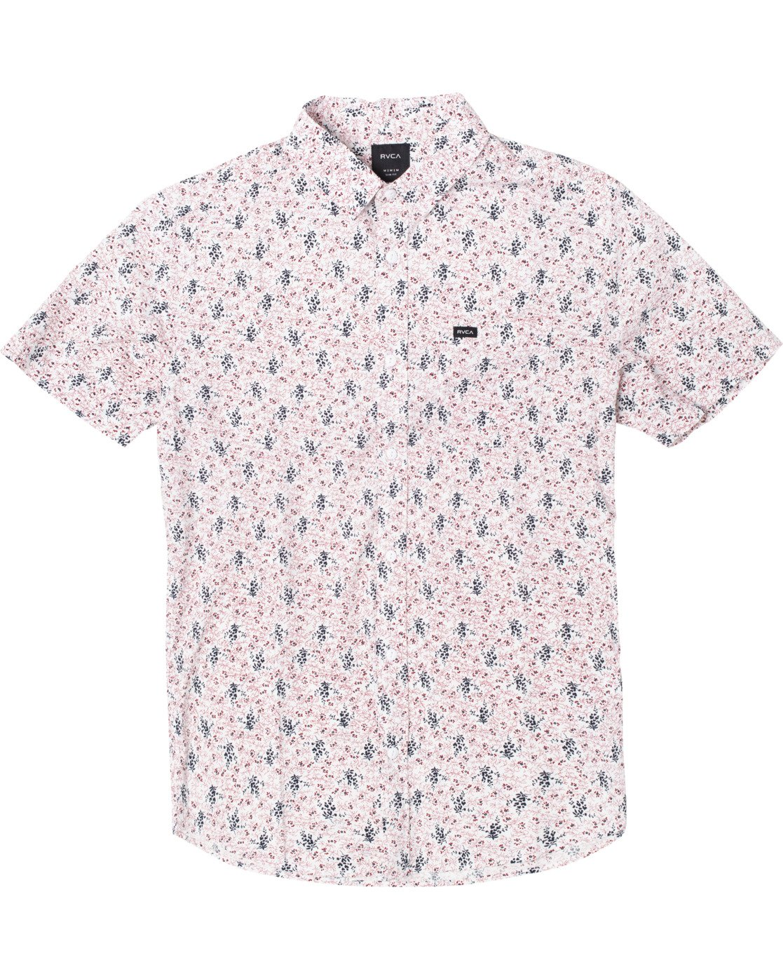 0 MONKBERRY FLORAL SHORT SLEEVE SHIRT White M5163RMB RVCA