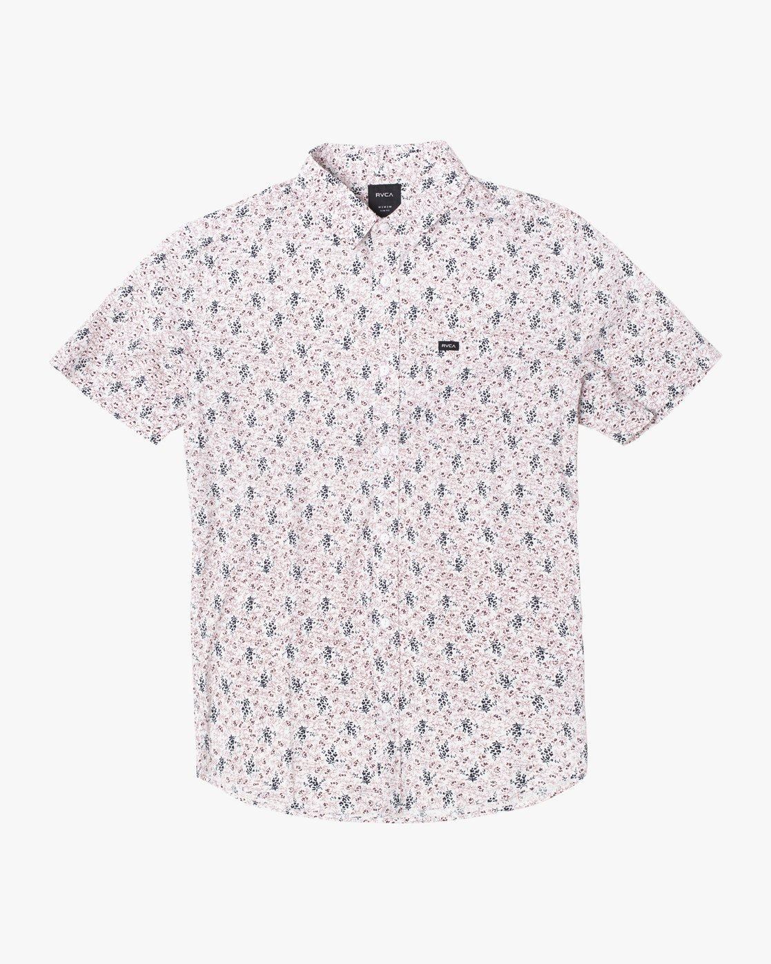 5 MONKBERRY FLORAL SHORT SLEEVE SHIRT White M5163RMB RVCA