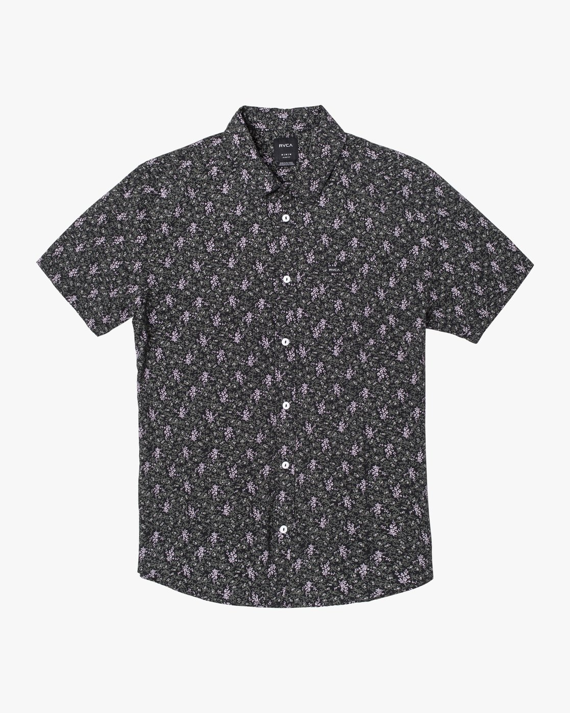 4 MONKBERRY FLORAL SHORT SLEEVE SHIRT Black M5163RMB RVCA