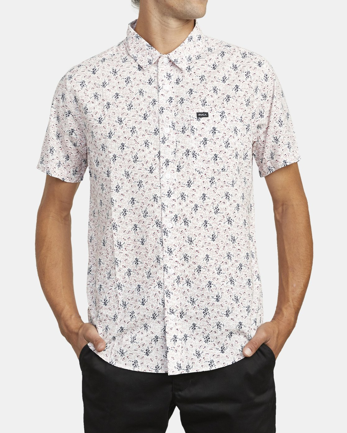 1 MONKBERRY FLORAL SHORT SLEEVE SHIRT White M5163RMB RVCA