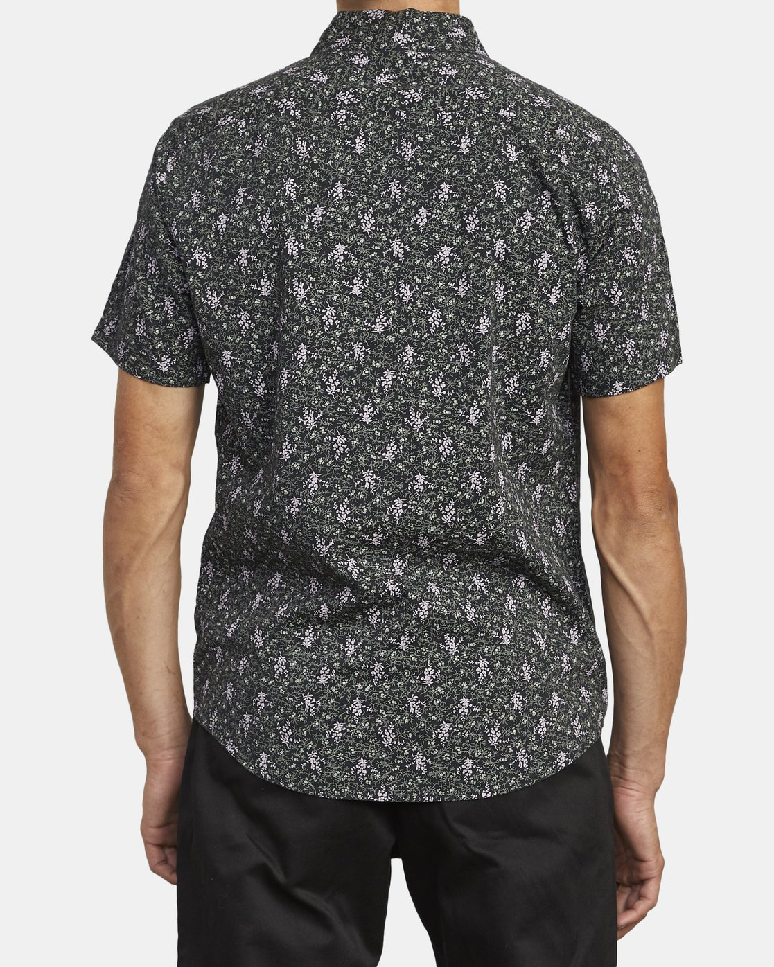 1 MONKBERRY FLORAL SHORT SLEEVE SHIRT Black M5163RMB RVCA