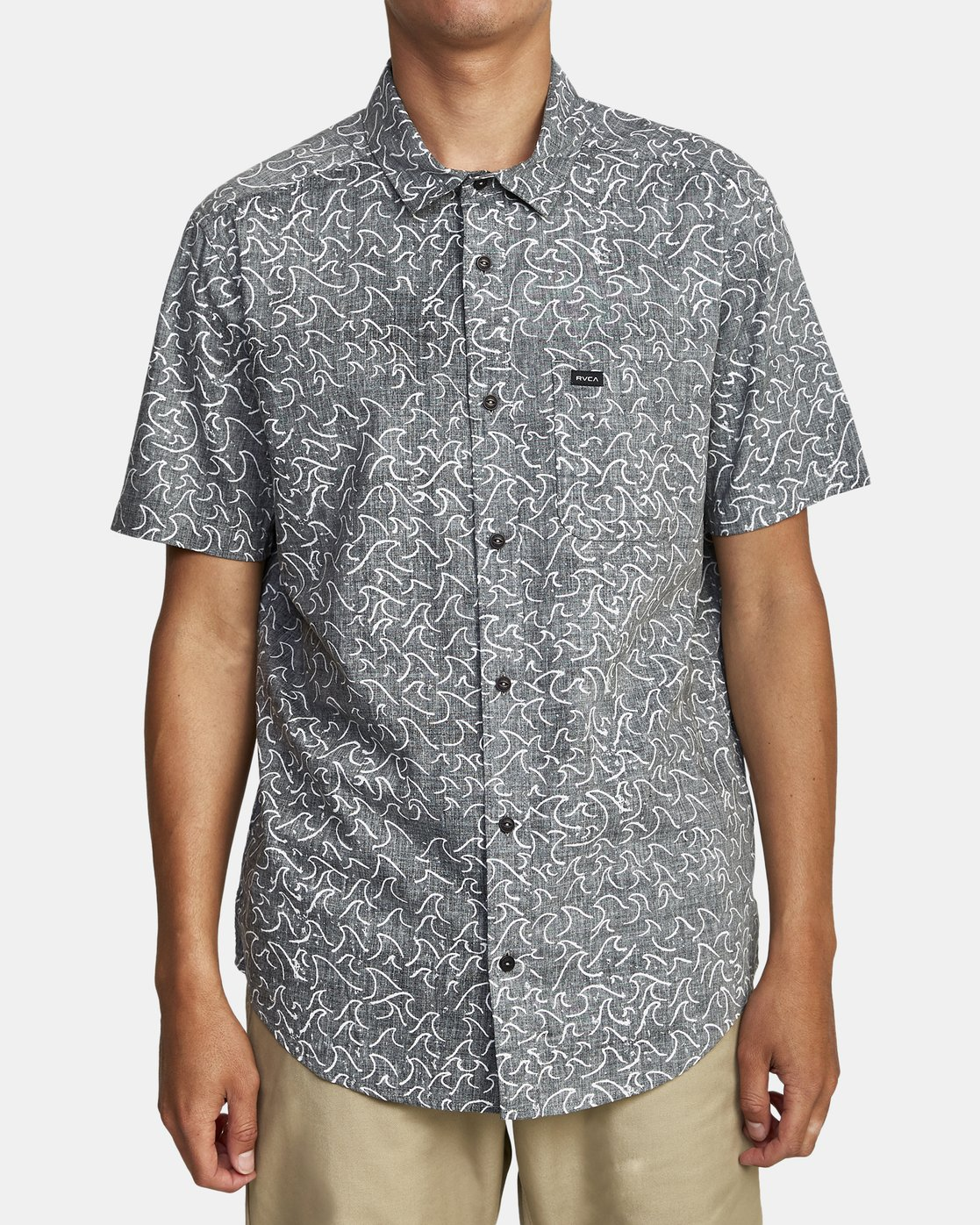 0 OBLOW WAVES SHORT SLEEVE SHIRT Black M5172ROW RVCA