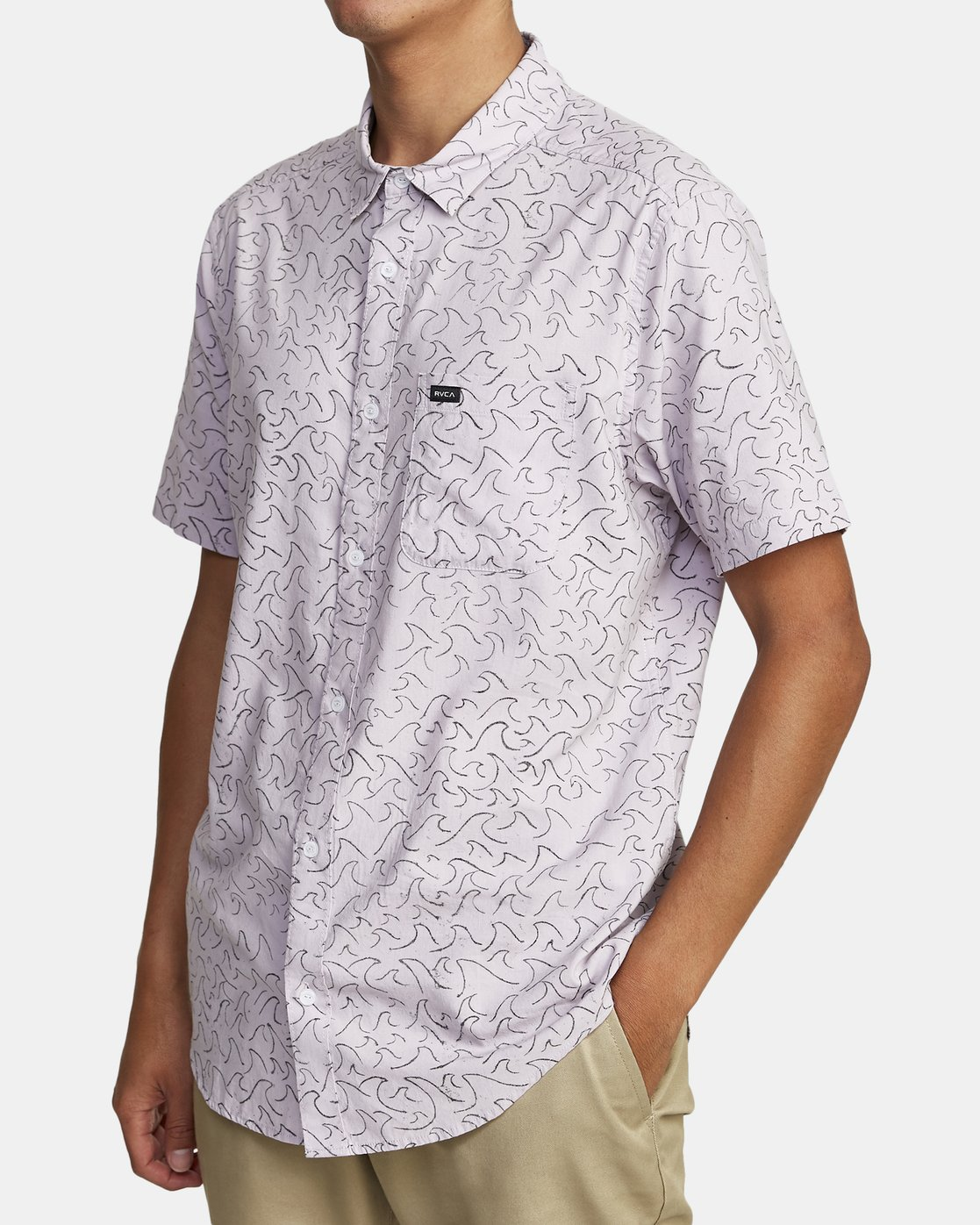 6 OBLOW WAVES SHORT SLEEVE SHIRT Blue M5172ROW RVCA