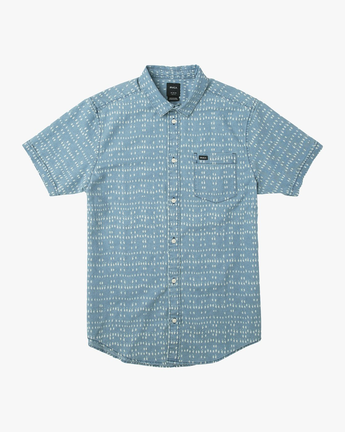 91a40921430 0 Nakama Dot Button-Up Shirt Blue M517TRND RVCA