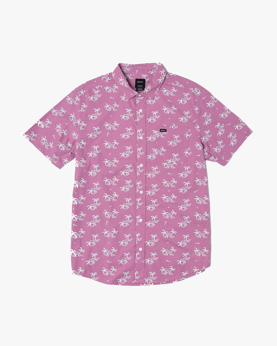 2 EASY PALMS BUTTON-UP SHIRT Purple M5191REP RVCA