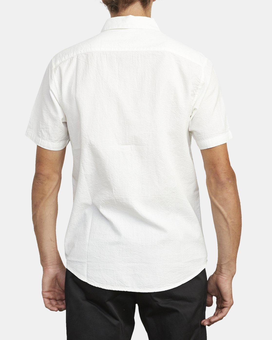 1 ENDLESS SEERSUCKER PRINT SHORT SLEEVE SHIRT White M5192REP RVCA