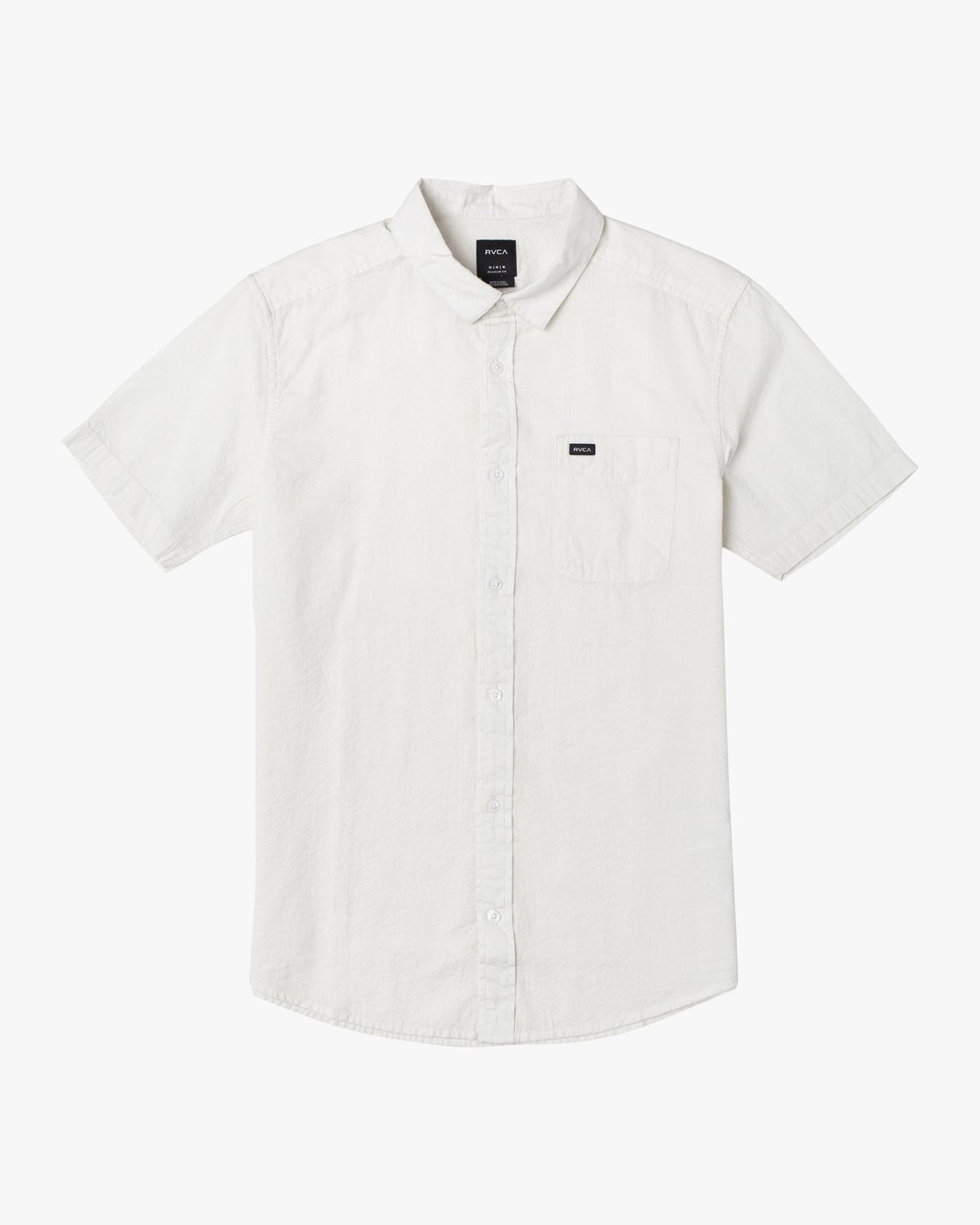 0 ENDLESS SEERSUCKER SHORT SLEEVE SHIRT White M5192RES RVCA
